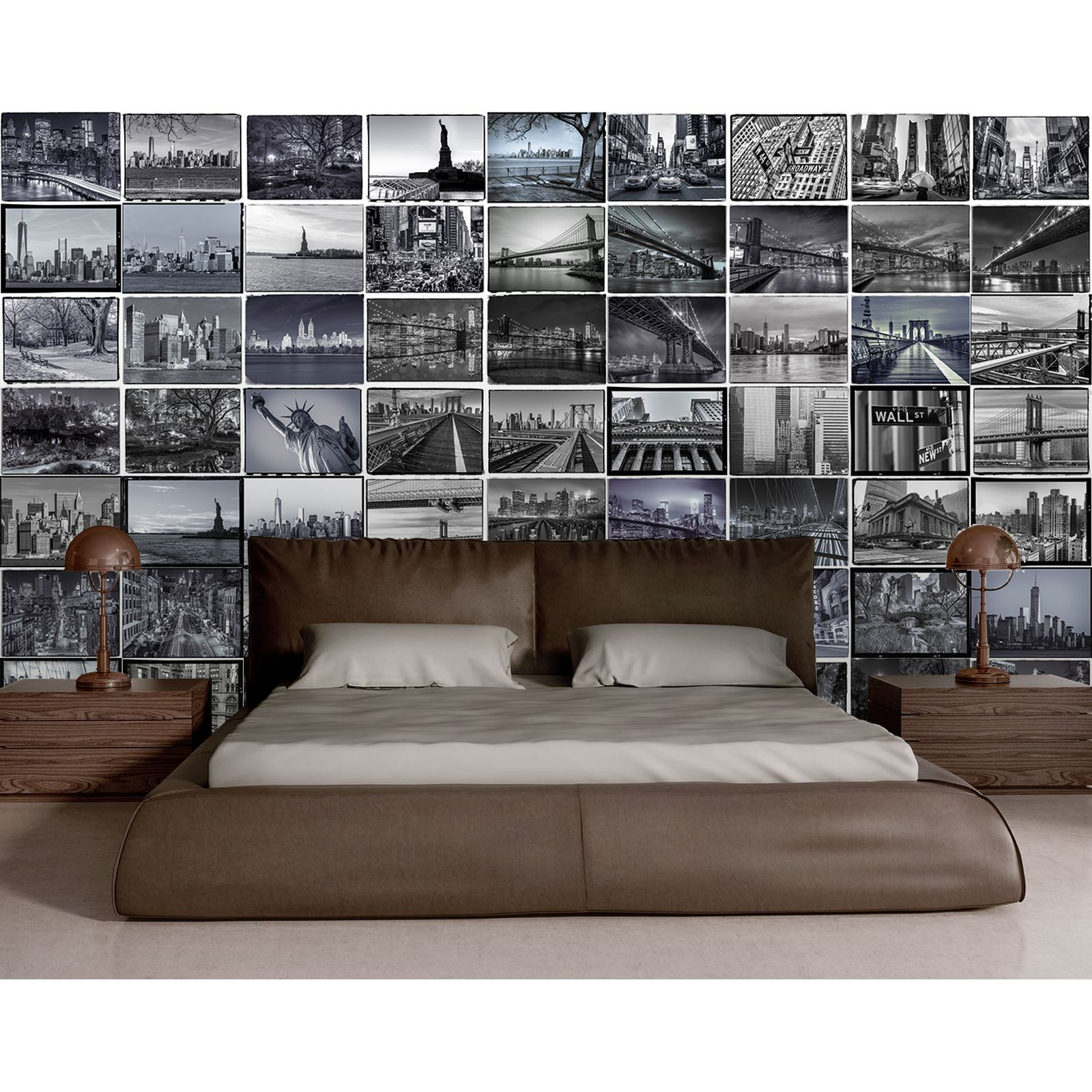 Creative collage big apple new york city wall mural 64 for City wall mural wallpaper