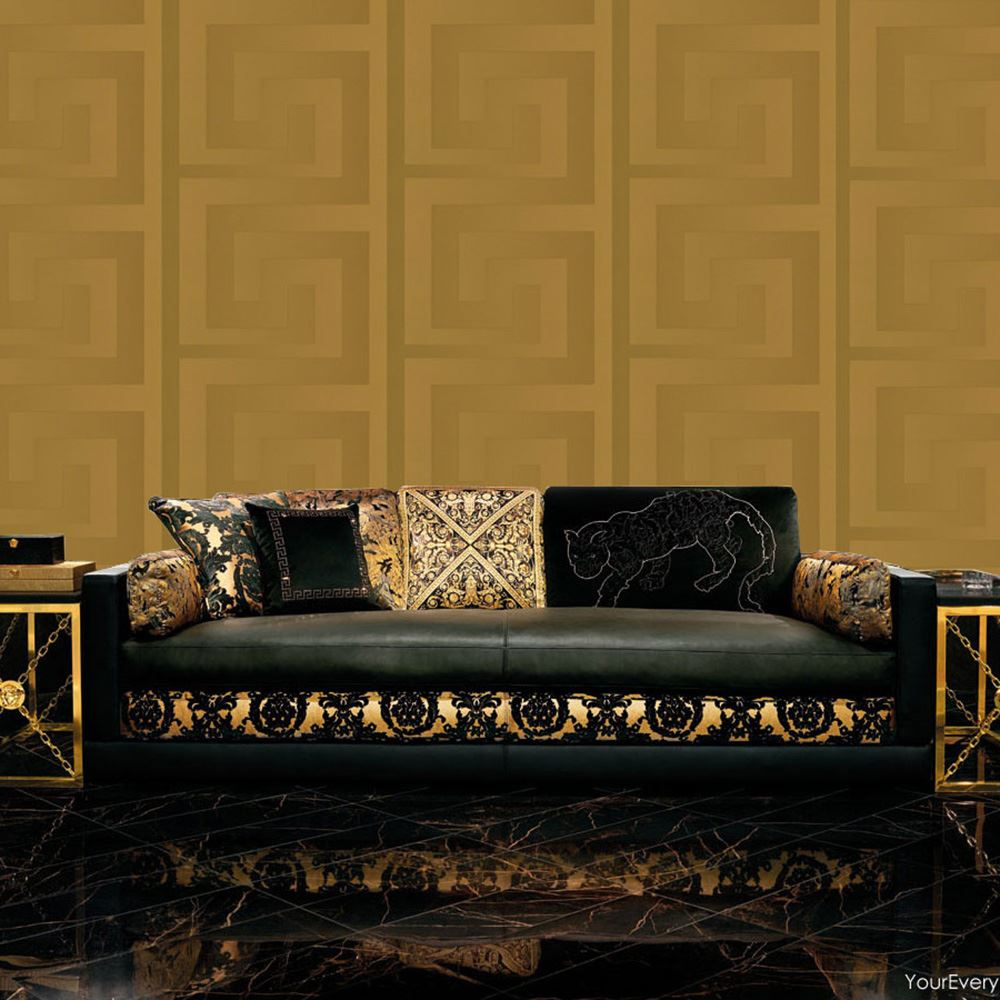Versace designer wallpaper and border range gold silver black wall decor new ebay Versace home furniture uk