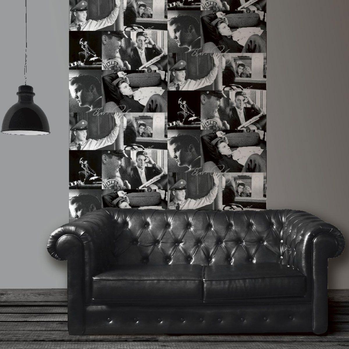 muriva elvis presley collage ich bilder 102542 neue schwarz wei. Black Bedroom Furniture Sets. Home Design Ideas