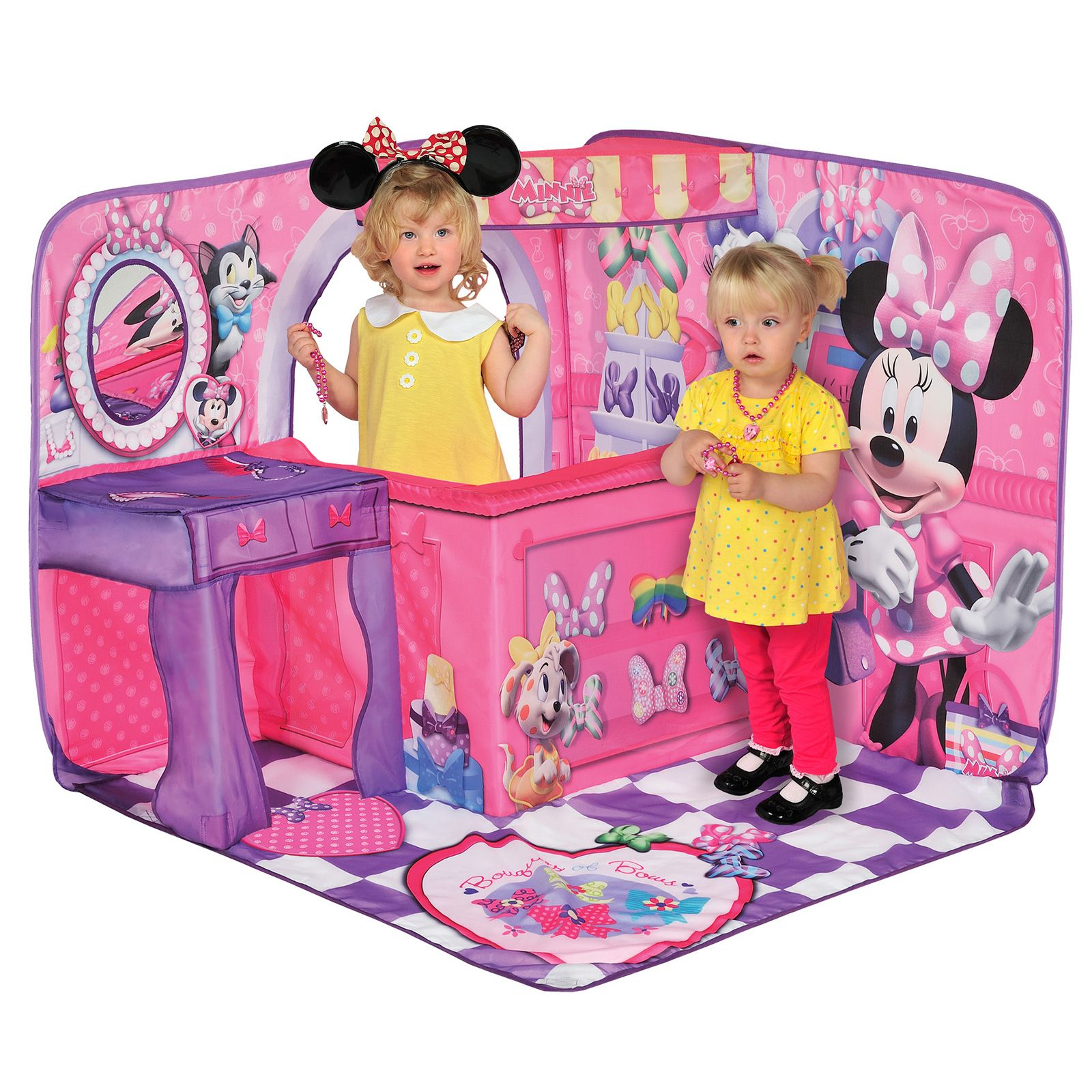 Minnie Mouse Bow Tique 3d Playscape Play House New Free P