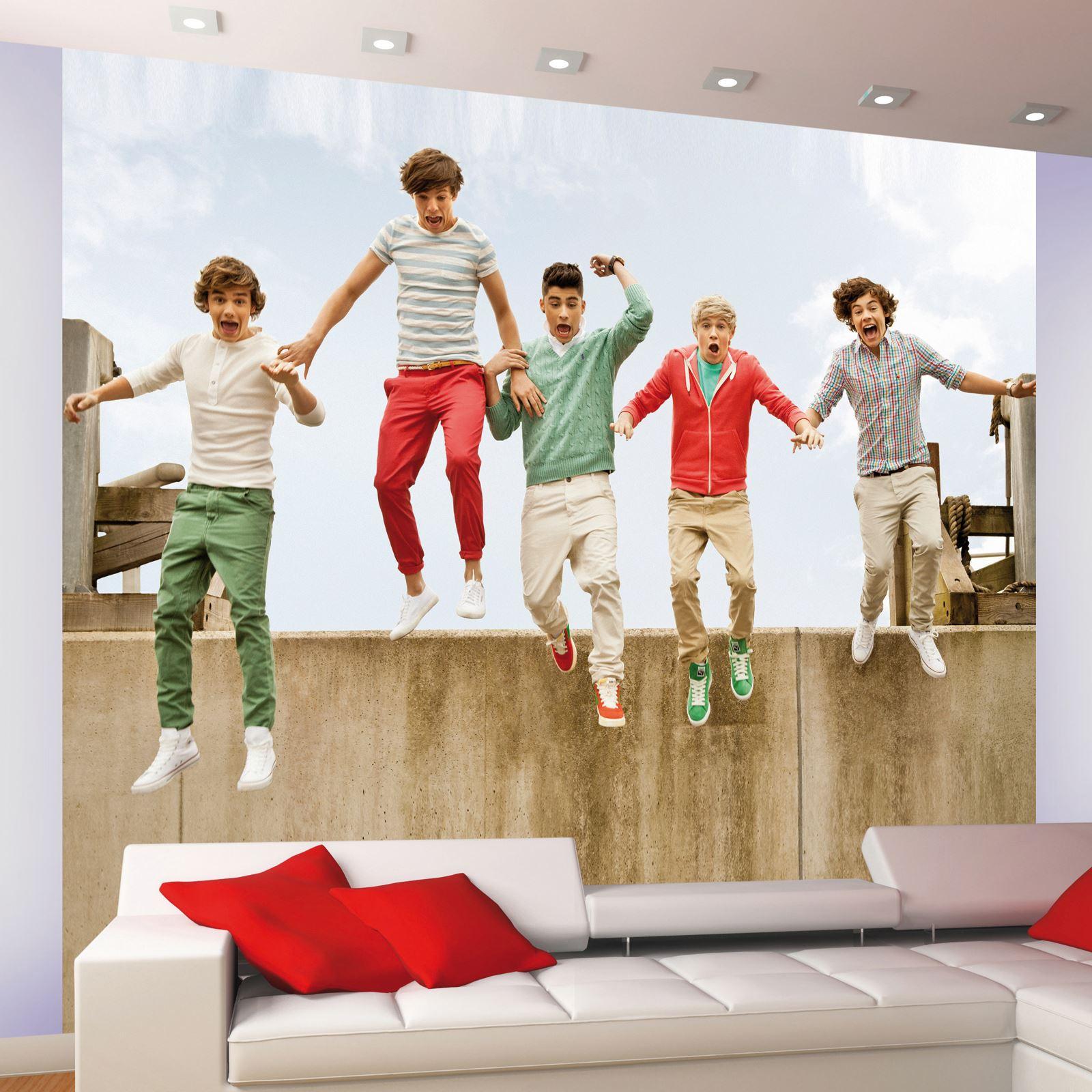 one direction 1d wall mural wallpaper official ebay