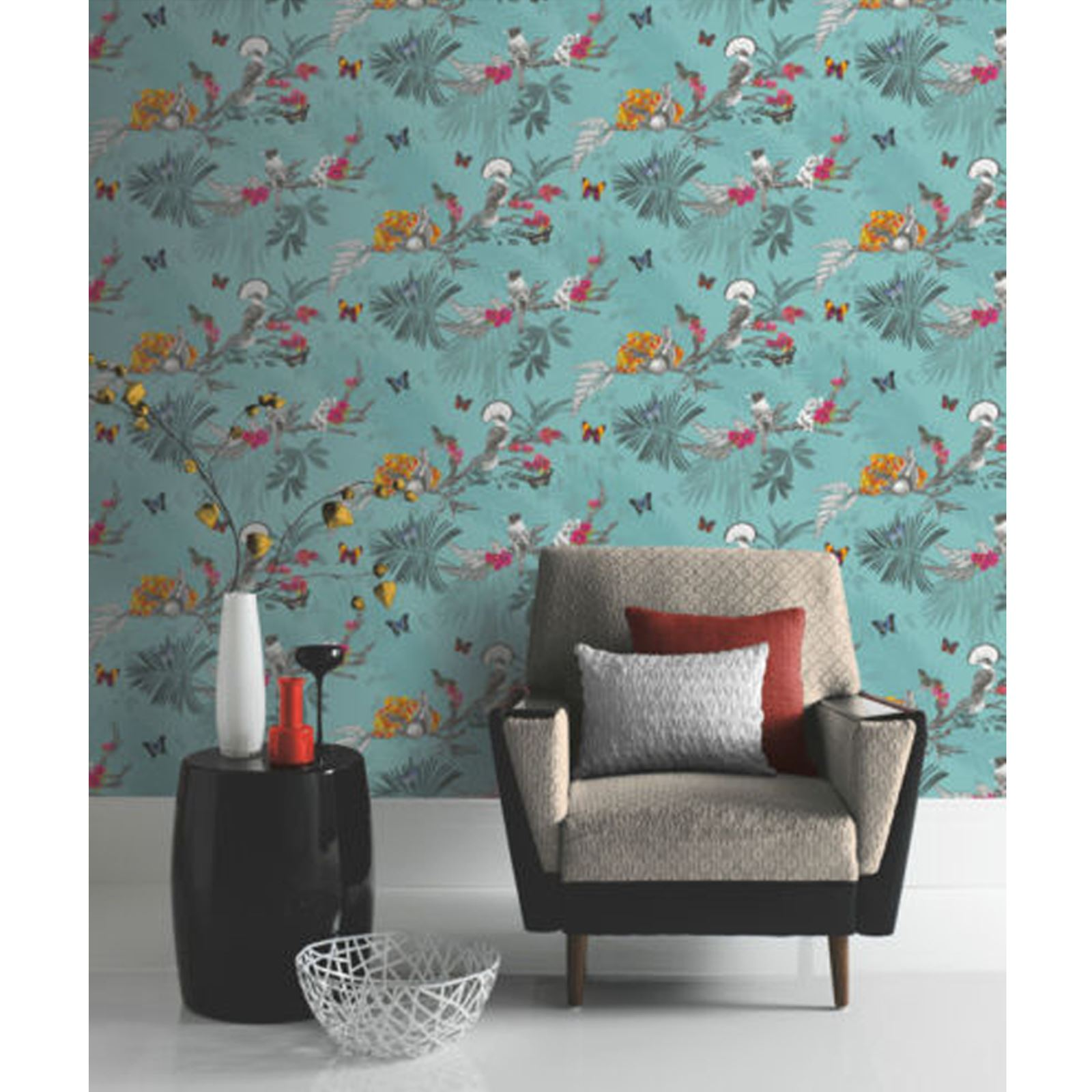 Beautiful exotic and tropical birds themed wallpapers for Wall art wallpaper
