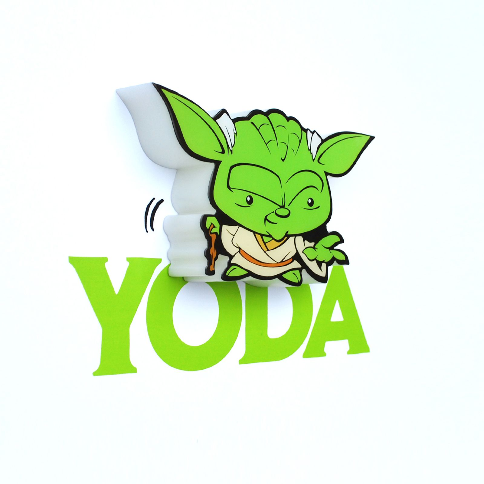 star wars yoda 3d led deko wandlicht neu offiziell ebay. Black Bedroom Furniture Sets. Home Design Ideas