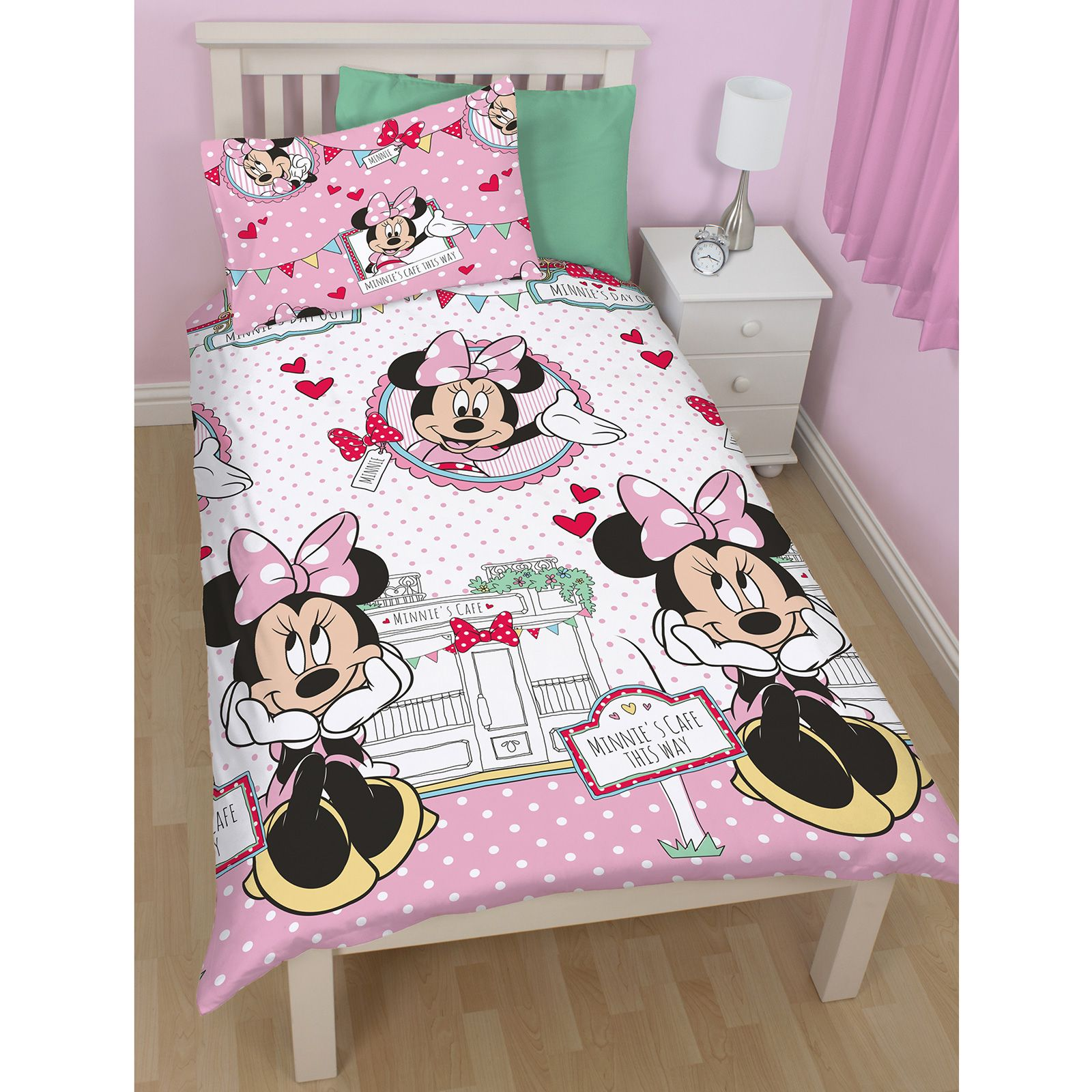 Minnie Mouse Bedroom Curtains Disney Minnie Mouse Official Single Double Amp Junior Duvet