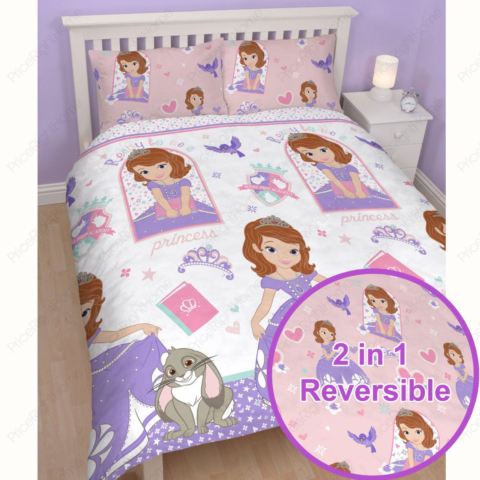 Sleigh Bedroom Sets King Bedroom Jpg Simple Bedroom Colour Design Bedroom Accessories Uk: DISNEY PRINCESS SOFIA THE FIRST 'ACADEMY' DOUBLE DUVET