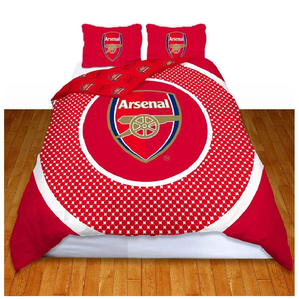 ARSENAL FC DOUBLE DUVET COVER NEW OFFICIAL BEDDING