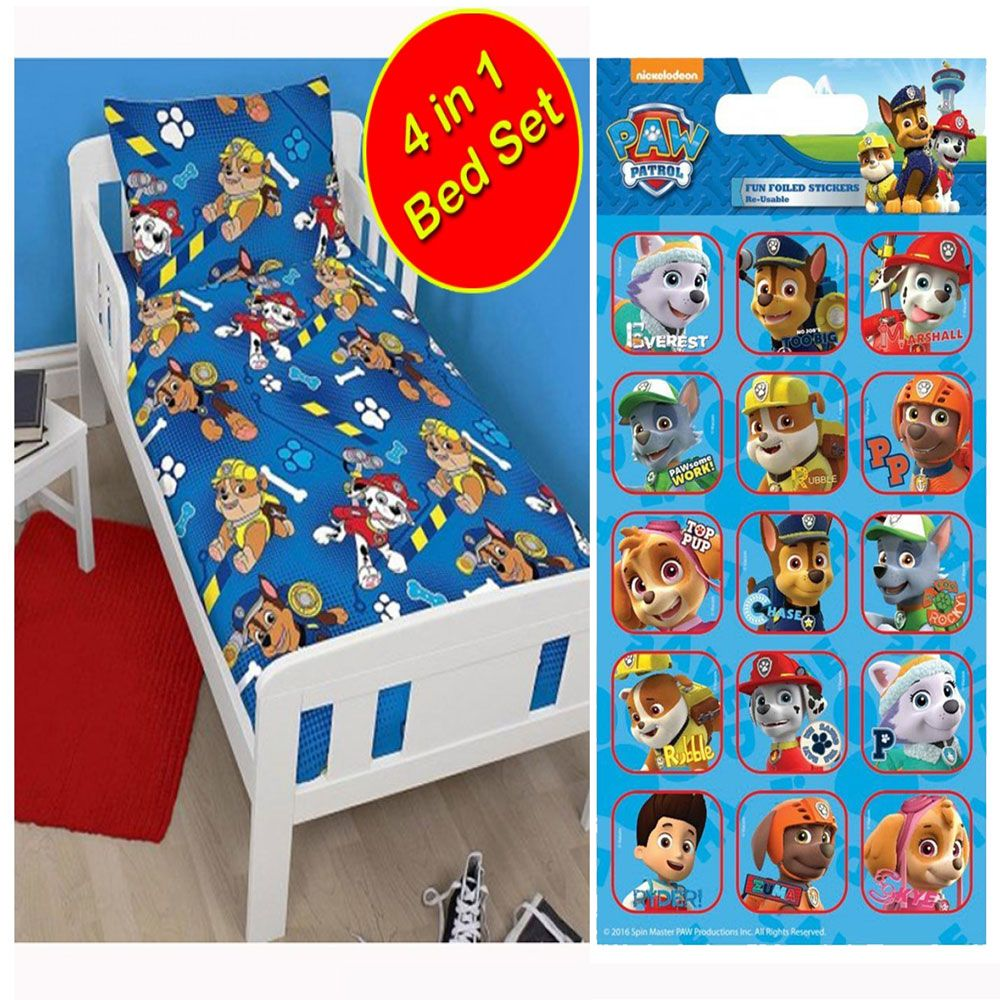 Pat 39 patrouille 4 en 1 ensemble de literie junior couette for Ensemble couette
