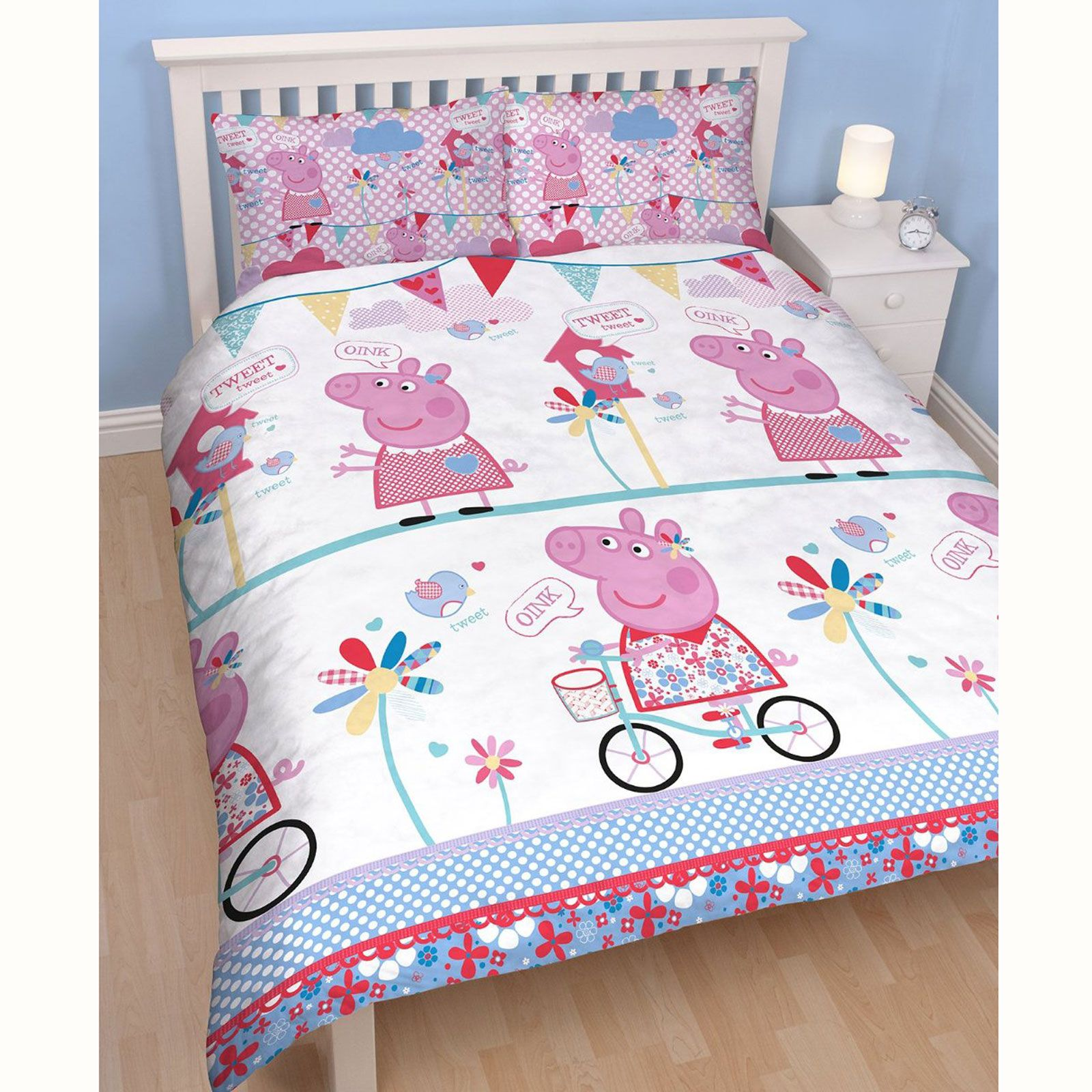 Peppa Pig Tweet Double Doona Cover Set New Kids Bedding