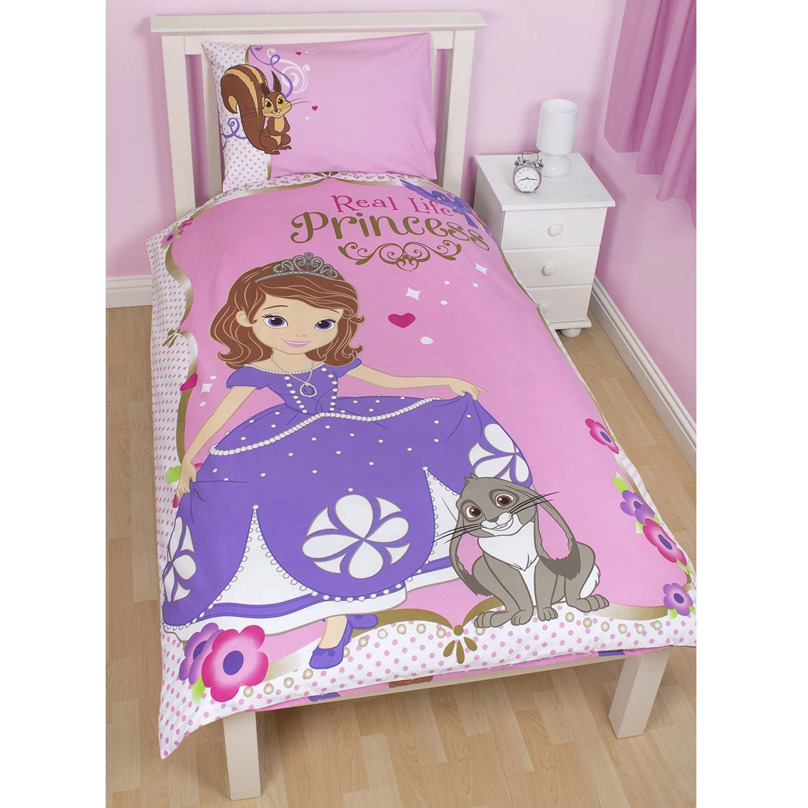 DISNEY SOFIA THE FIRST BEDDING SINGLE DOUBLE & JUNIOR DUVET COVER SETS BEDROOM