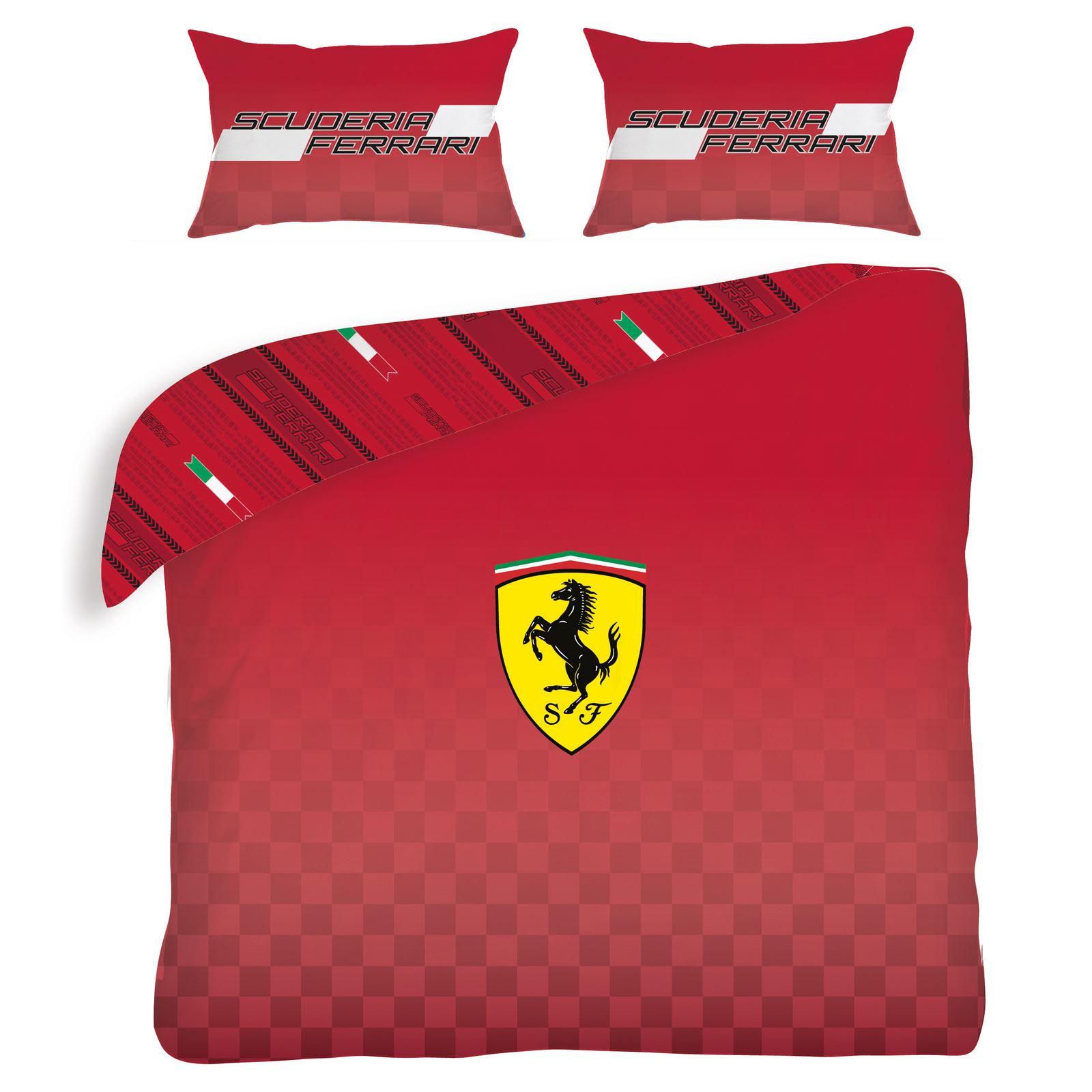 Ferrari set housse de couette double neuf sports voiture for Housse de couette voiture de course