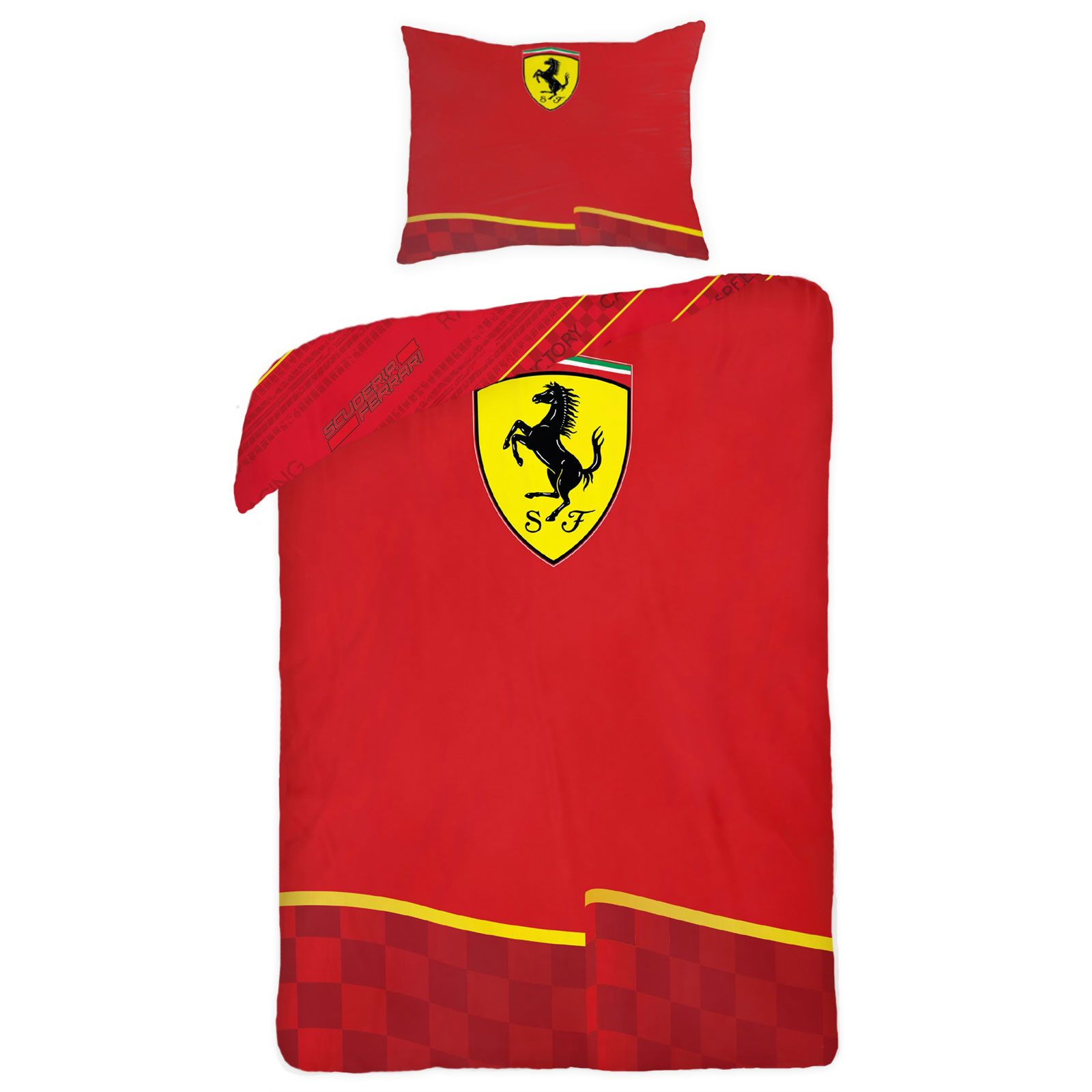 Official Ferrari Design Duvet Cover Sets Boys Bedroom