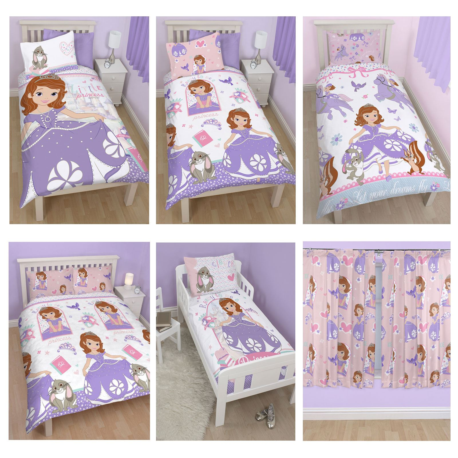 Sofia The First Bedroom Furniture Disney Sofia The First Bedding Single Double Amp Junior Duvet