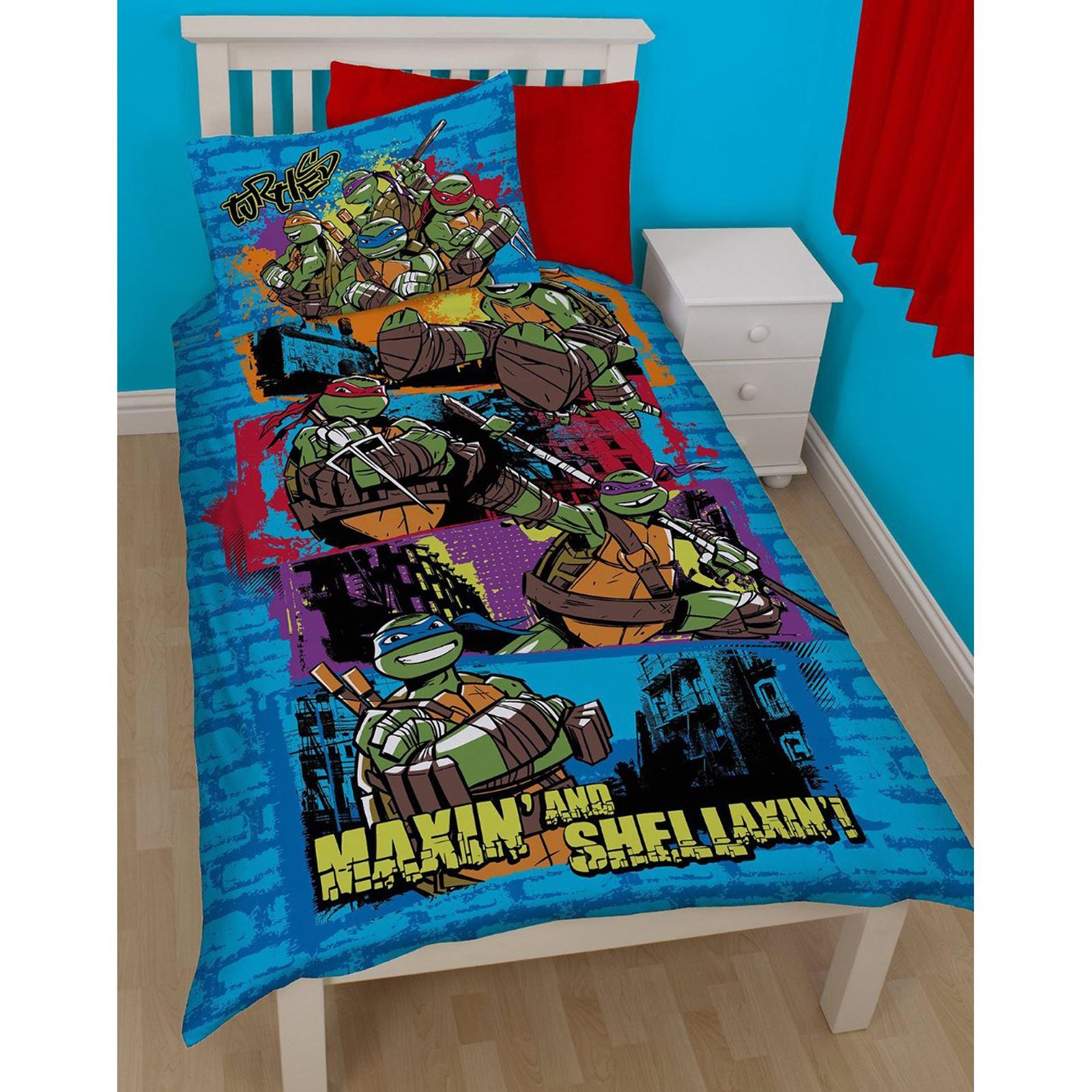 mutant turtles bedding single duvet cover