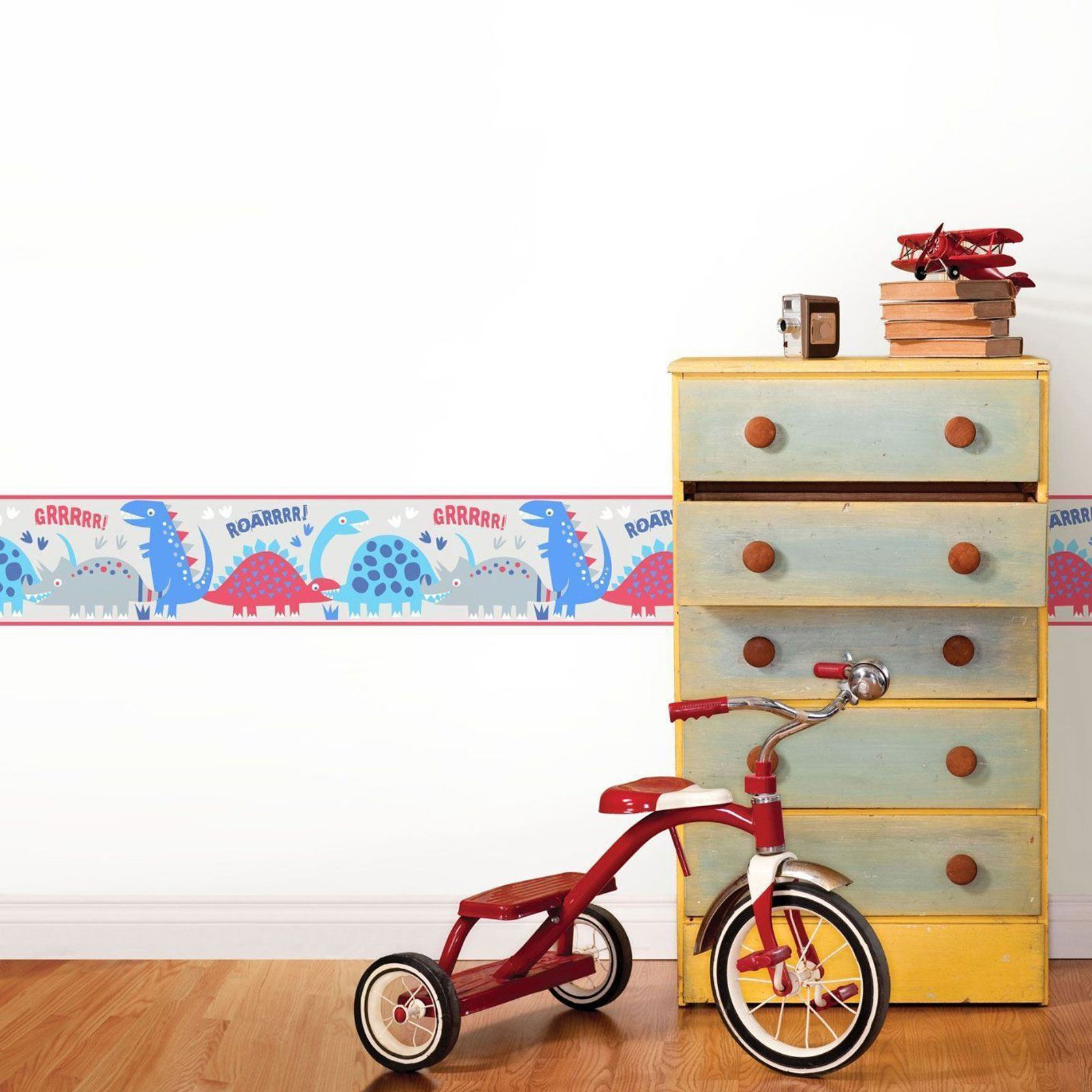 BOYS THEMED WALLPAPER BORDERS KIDS BEDROOM CARS, DINOSAUR ...
