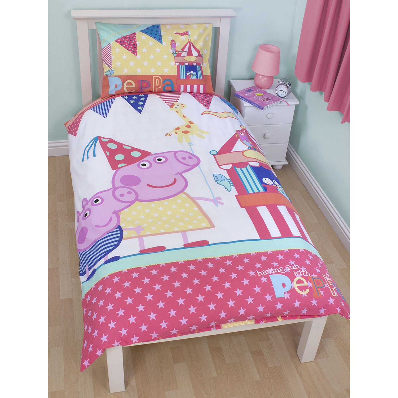 Peppa Pig Bedroom Furniture Peppa Pig Amp George Pig Duvet Quilt Covers Toddler Single