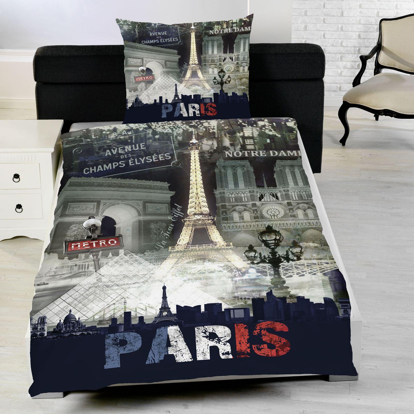 ... sur Housse Parure De Lit+Chambre À Coucher Paris Landmarks 100% Coton