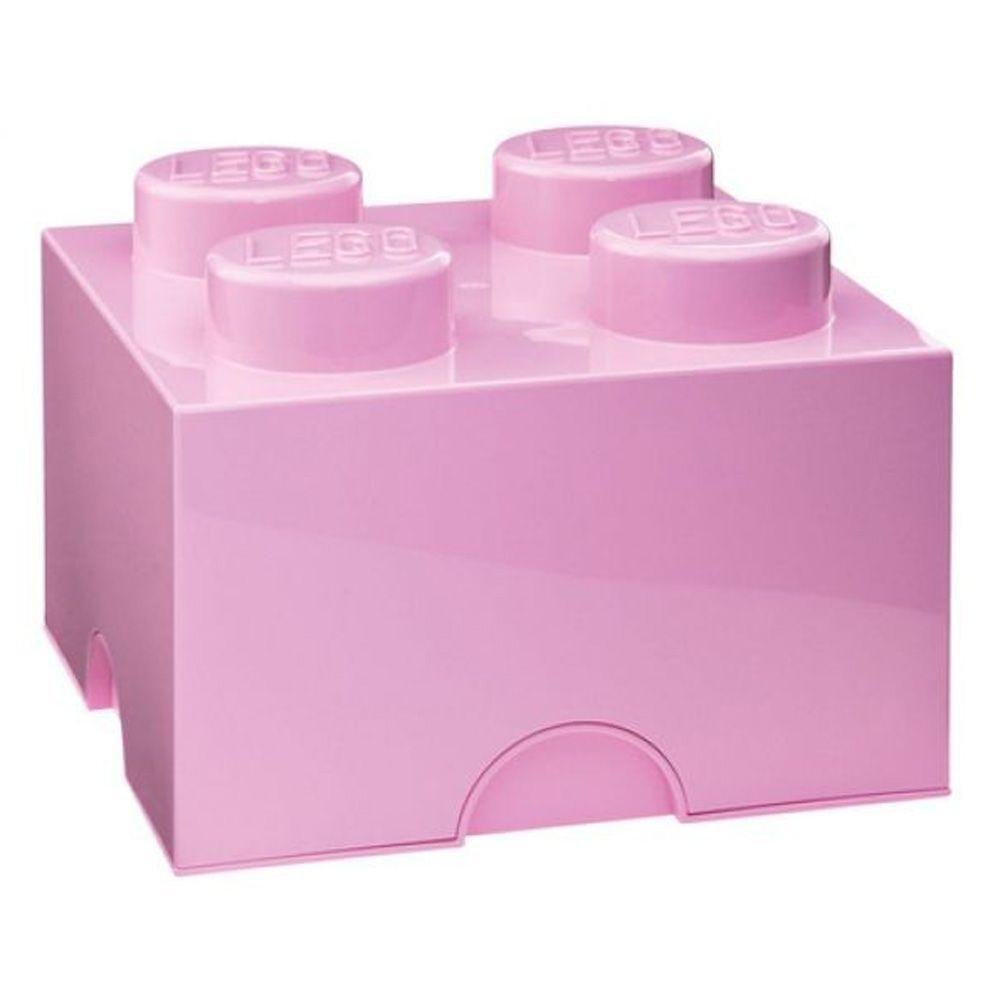 lego storage brick 4 light pink kids bedroom playroom toy. Black Bedroom Furniture Sets. Home Design Ideas