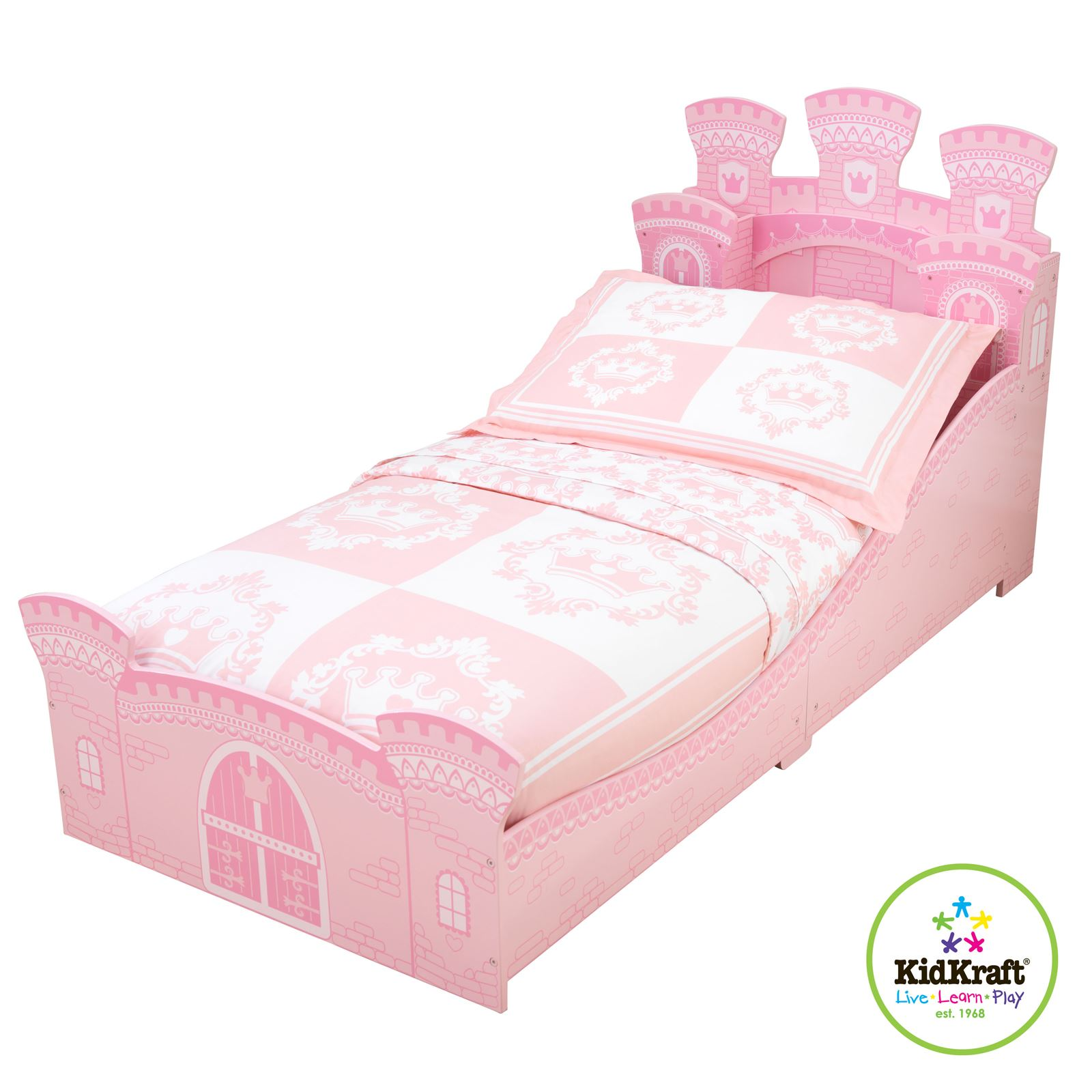 KIDKRAFT PRINCESS CASTLE JUNIOR TODDLER BED NEW BEDROOM