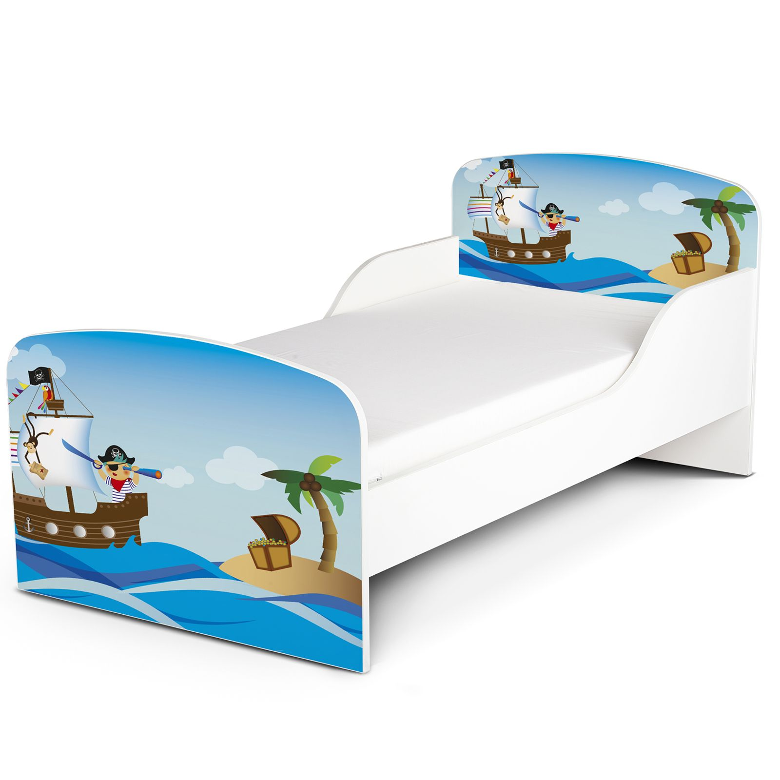 PIRATES MDF TODDLER BED NEW WOODEN KIDS FURNITURE EBay