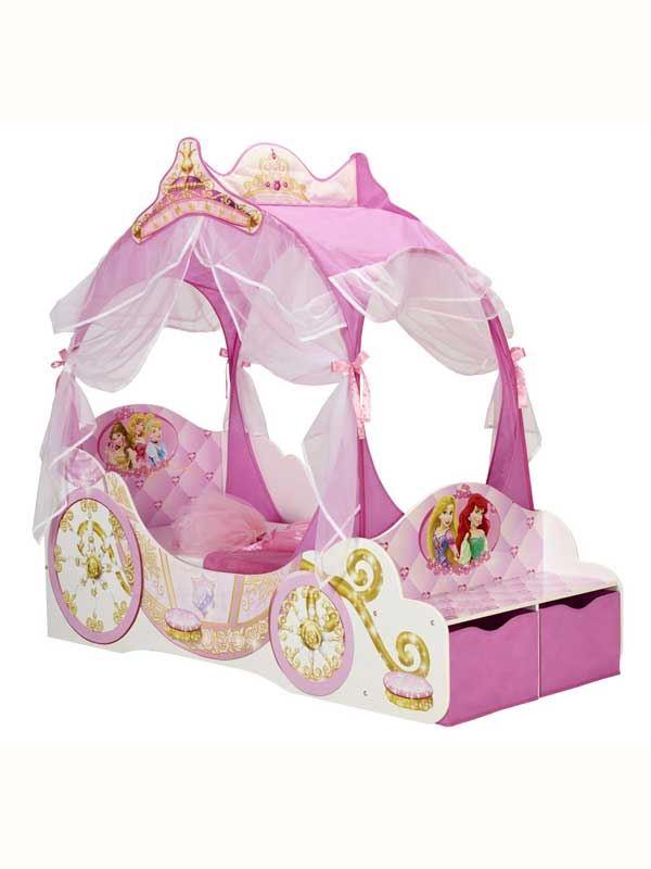 Disney Princess Carriage Junior Toddler Bed New Bedroom Furniture Ebay