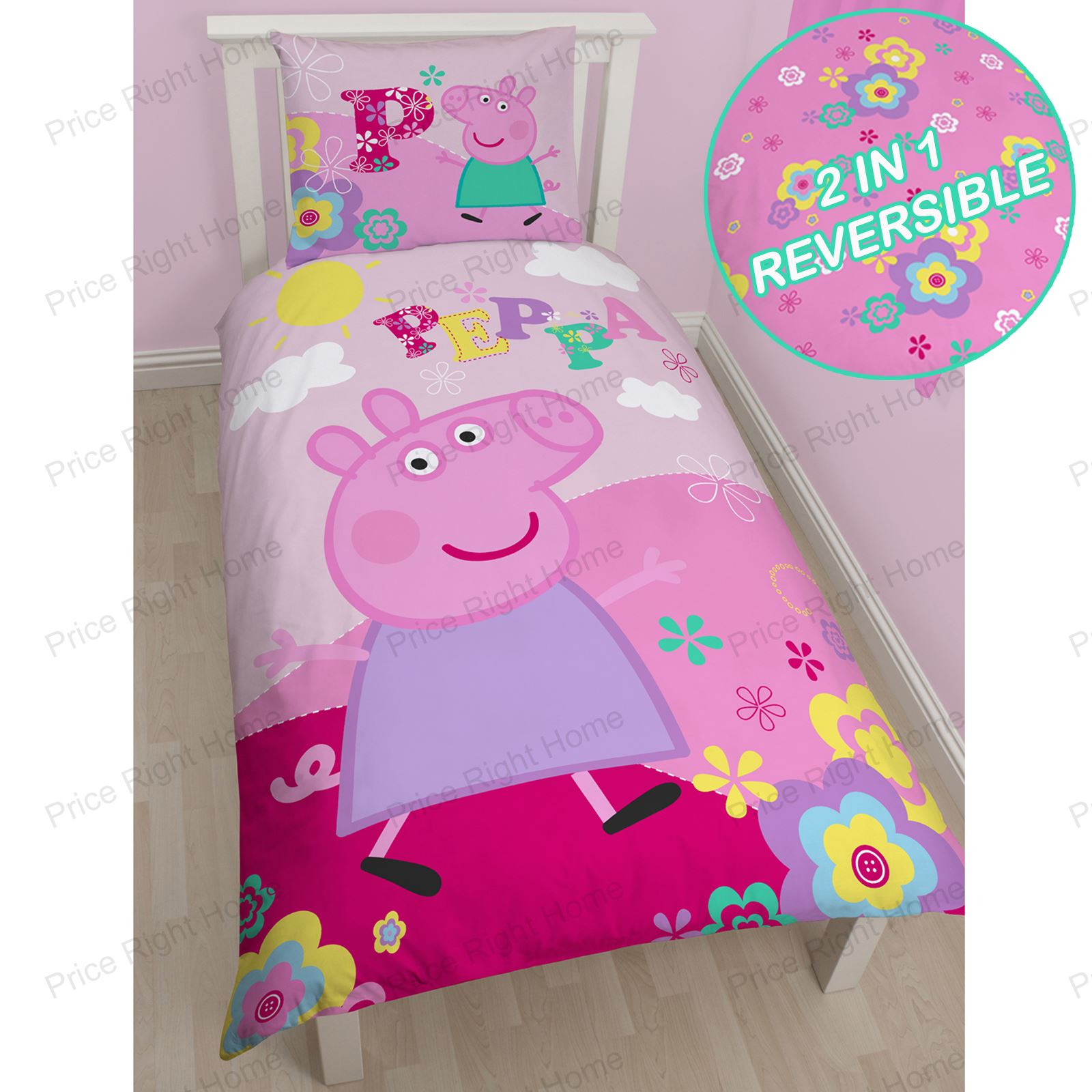 PEPPA PIG Amp GEORGE PIG DUVET QUILT COVERS TODDLER