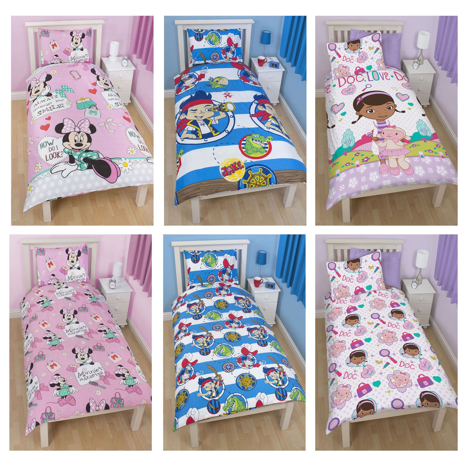 disney character twin duvet cover bed sheets bedding sets for boys and girls ebay. Black Bedroom Furniture Sets. Home Design Ideas
