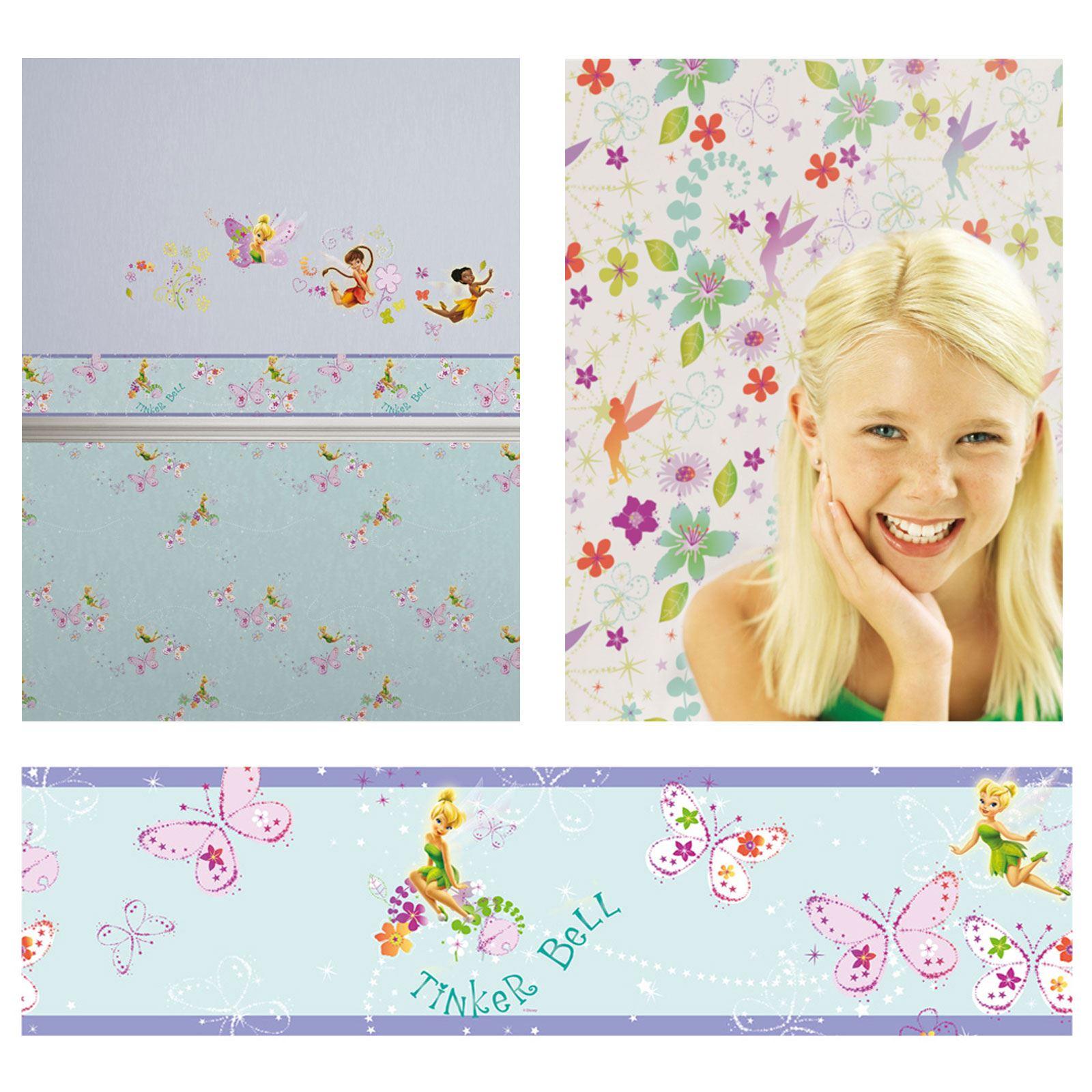 disney fairies tink wallpaper and borders bedroom decor ebay