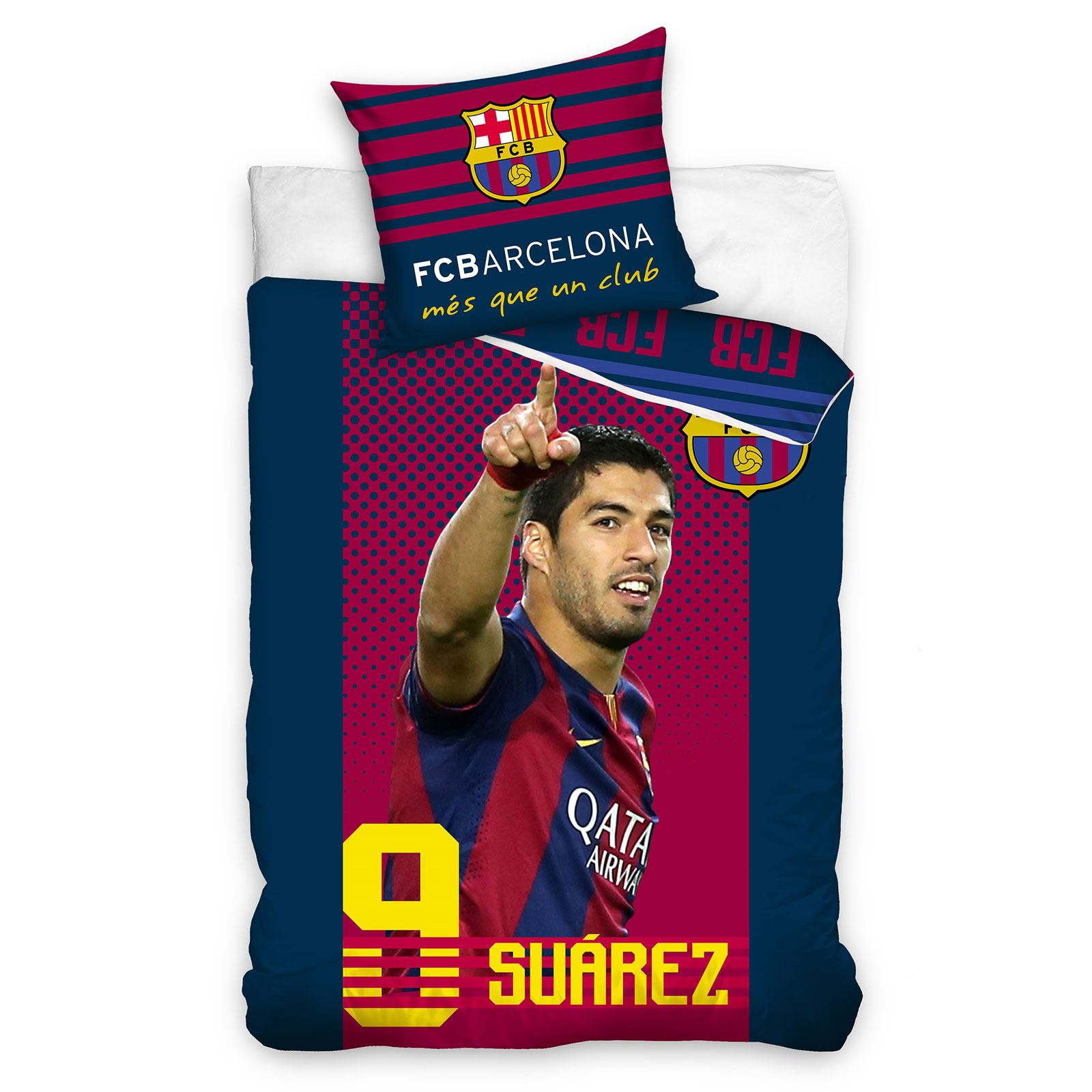 Details about BARCELONA BEDDING AND BEDROOM ACCESSORIES BOYS FOOTBALL