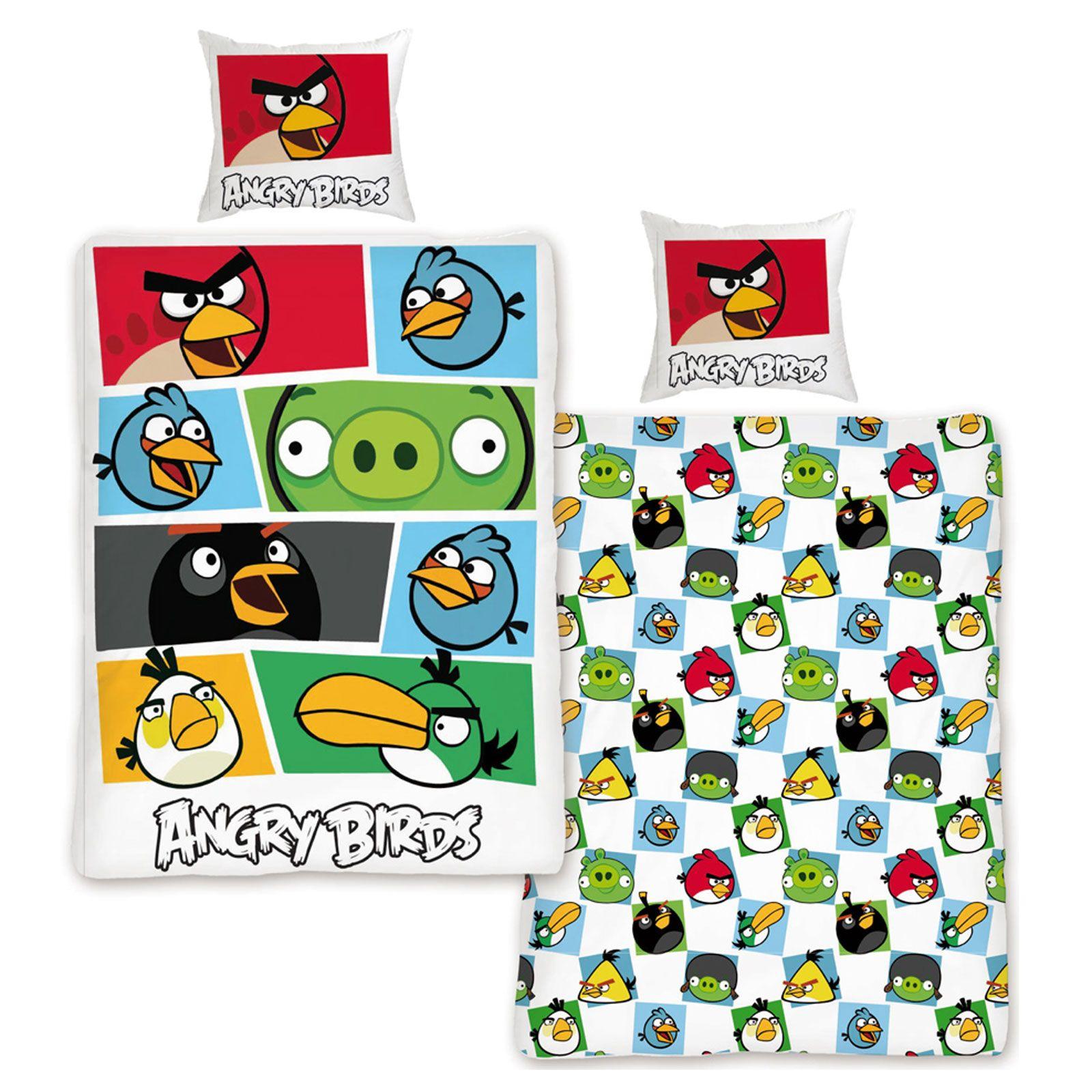 Angry Birds Duvet Cover Set 2 In 1 Reversible New Ebay