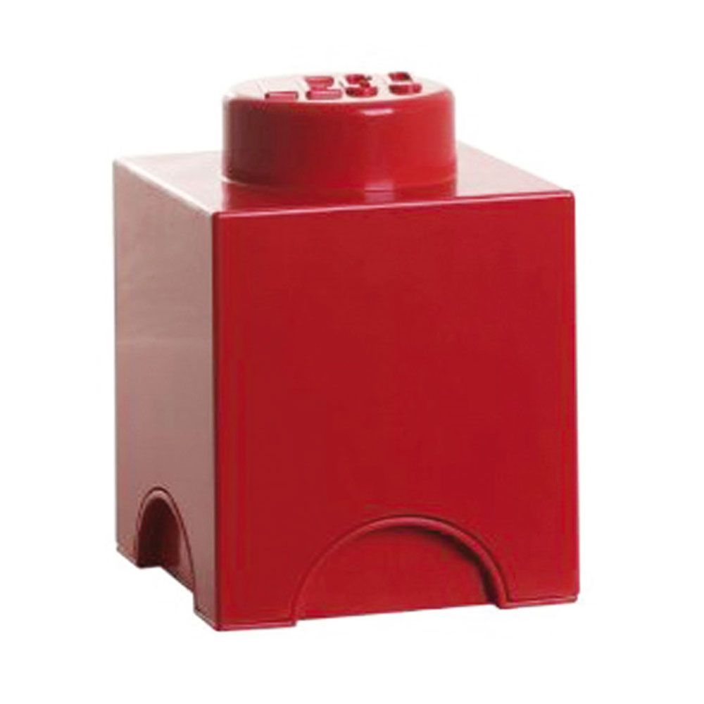 lego storage brick 1 red storage box kids toys bedroom new. Black Bedroom Furniture Sets. Home Design Ideas