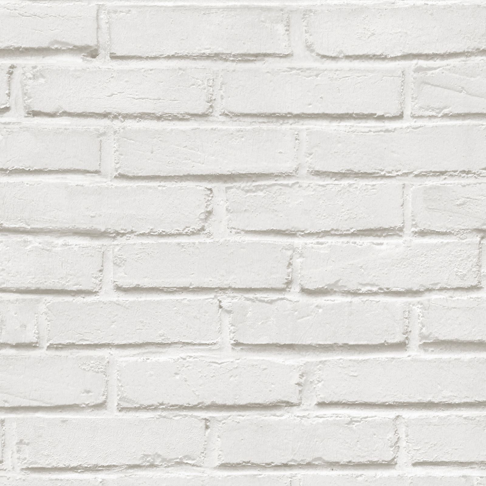 WHITE BRICK EFFECT WALLPAPER 5 STYLES FEATURE WALL