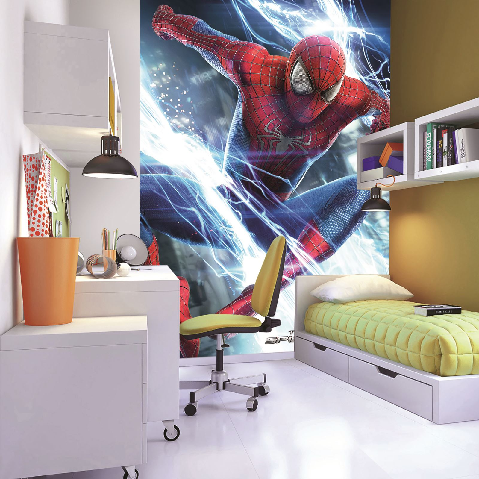 MARVEL SPIDERMAN WALLPAPER WALL MURAL 232cm x 158cm NEW ...
