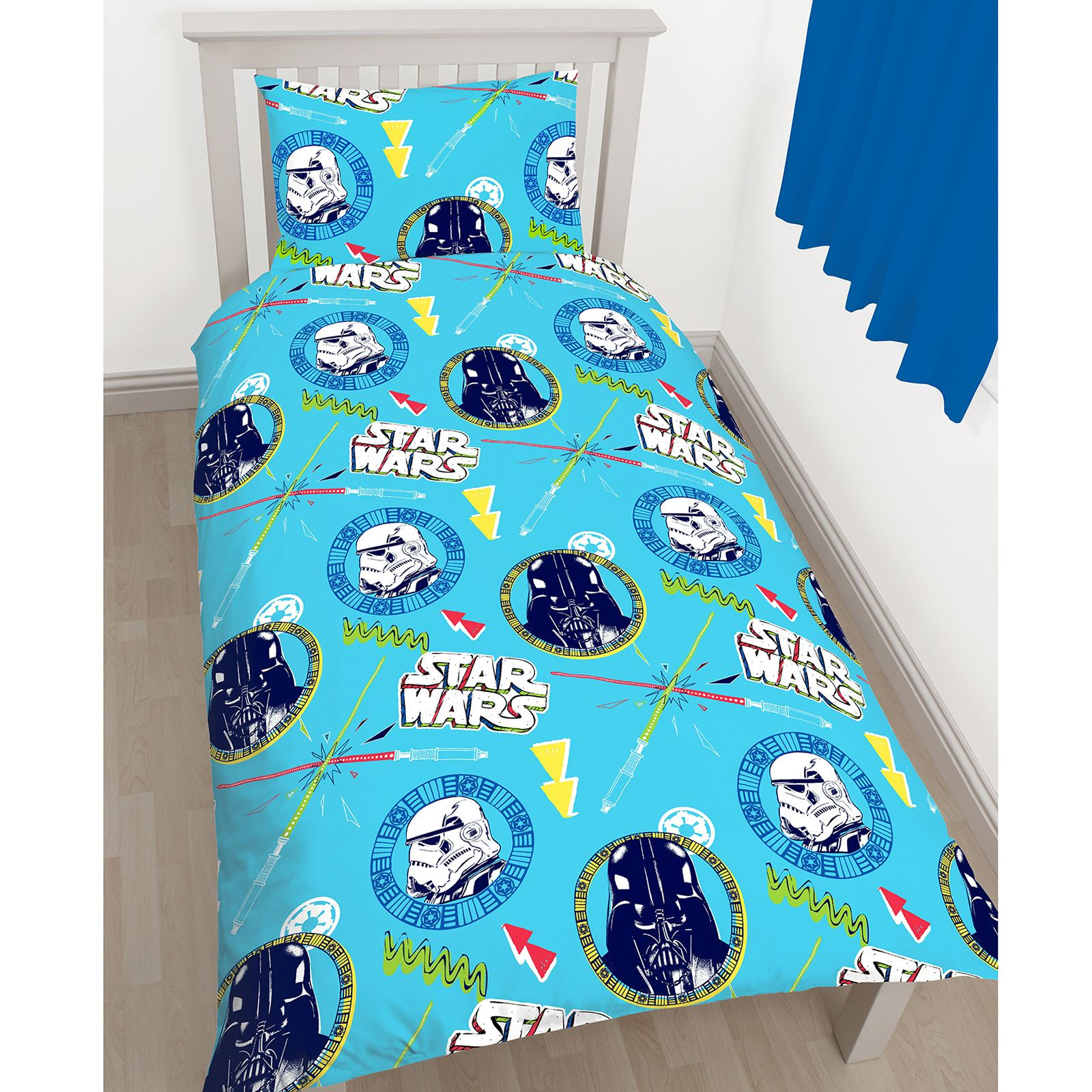 star wars klassisch doodle einzelbettbezug set kinder schlafzimmer bettw sche. Black Bedroom Furniture Sets. Home Design Ideas