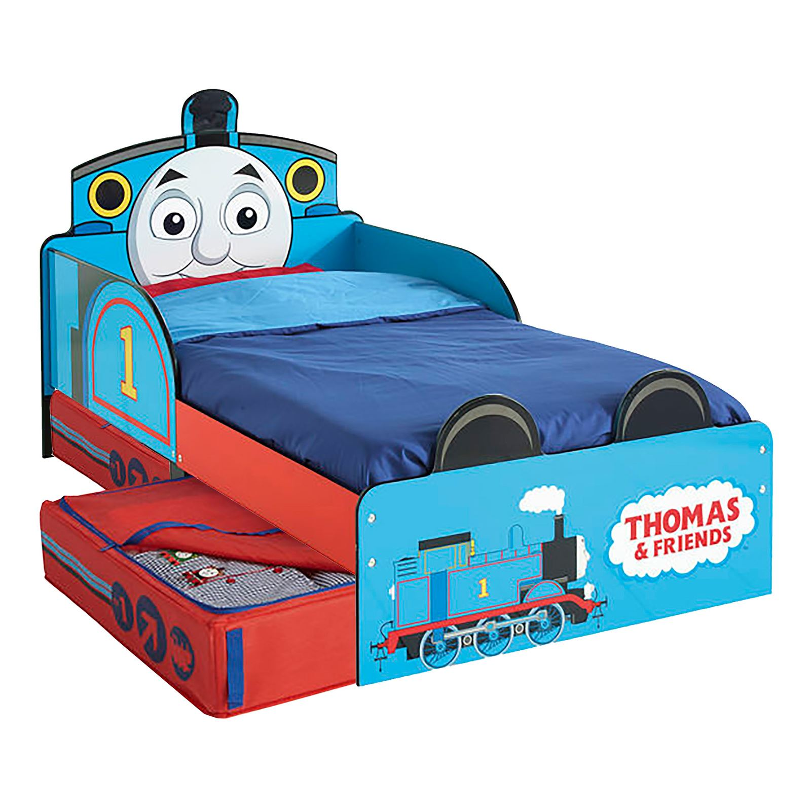 THOMAS Amp FRIENDS MDF TODDLER BED WITH STORAGE NEW TANK
