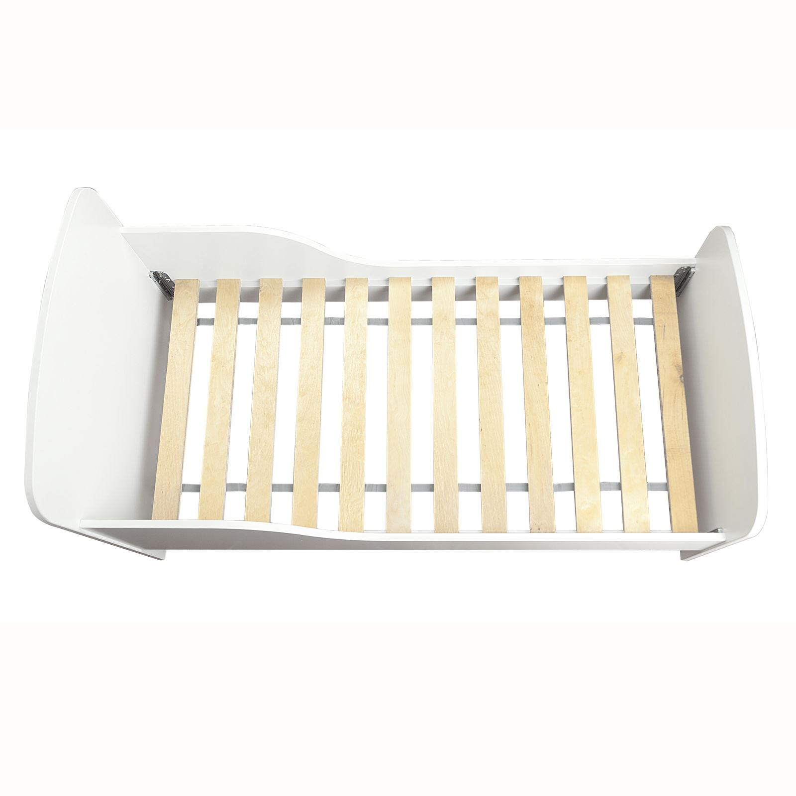 PLAIN WHITE MDF TODDLER BED MATTRESS WITH STORAGE