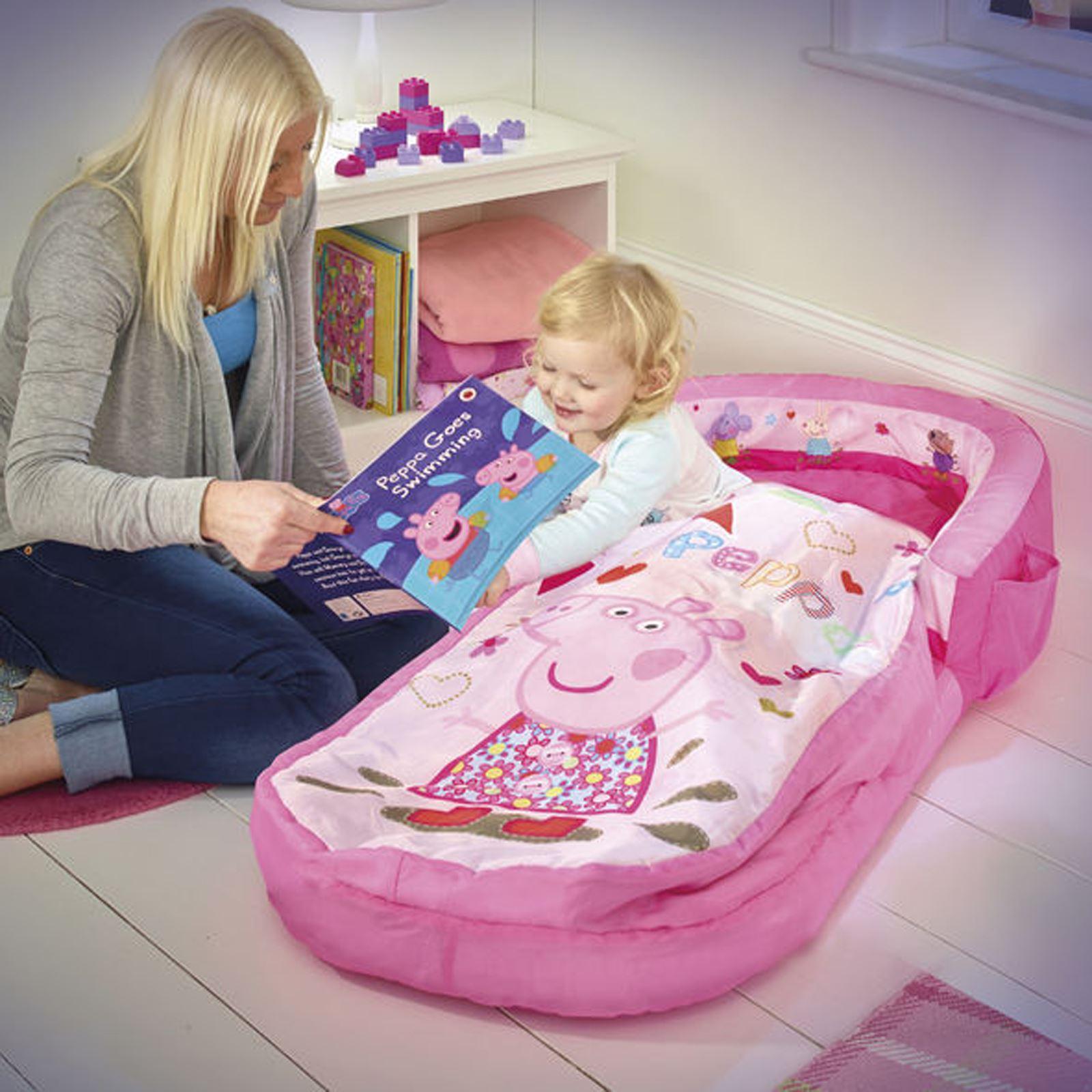 Peppa pig mi primera cama hinchable hinchable saco de for Camas de dormir