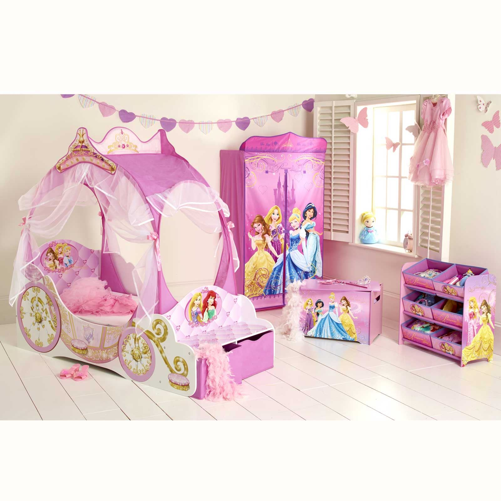 DISNEY PRINCESS CARRIAGE JUNIOR TODDLER BED NEW BEDROOM