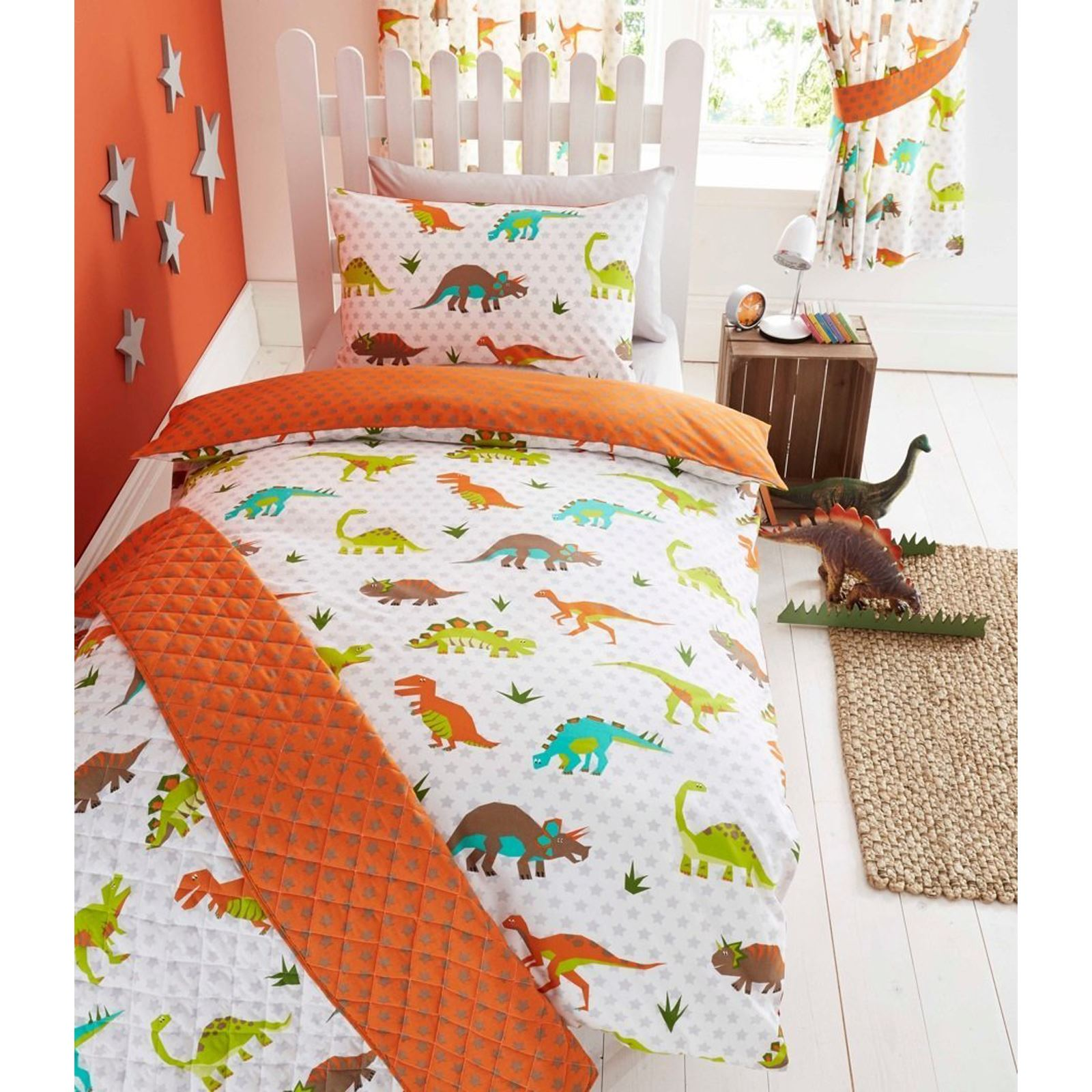 Dinosaur Design Single Duvet Cover Sets Boys Bedding Bedroom Ebay
