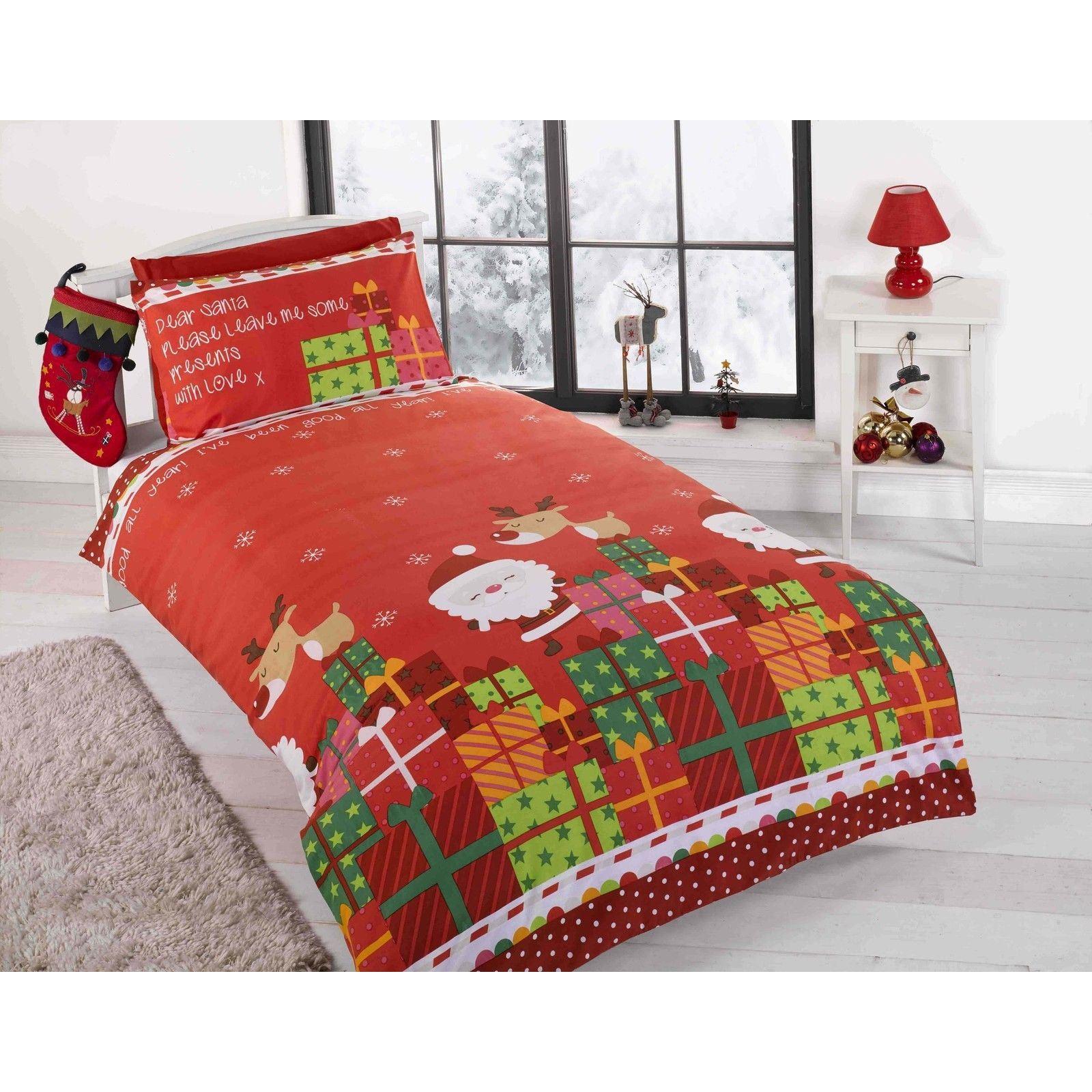 Christmas Duvet Cover Sets Various Styles Snowman Santa Kids Bedding Boys Girls