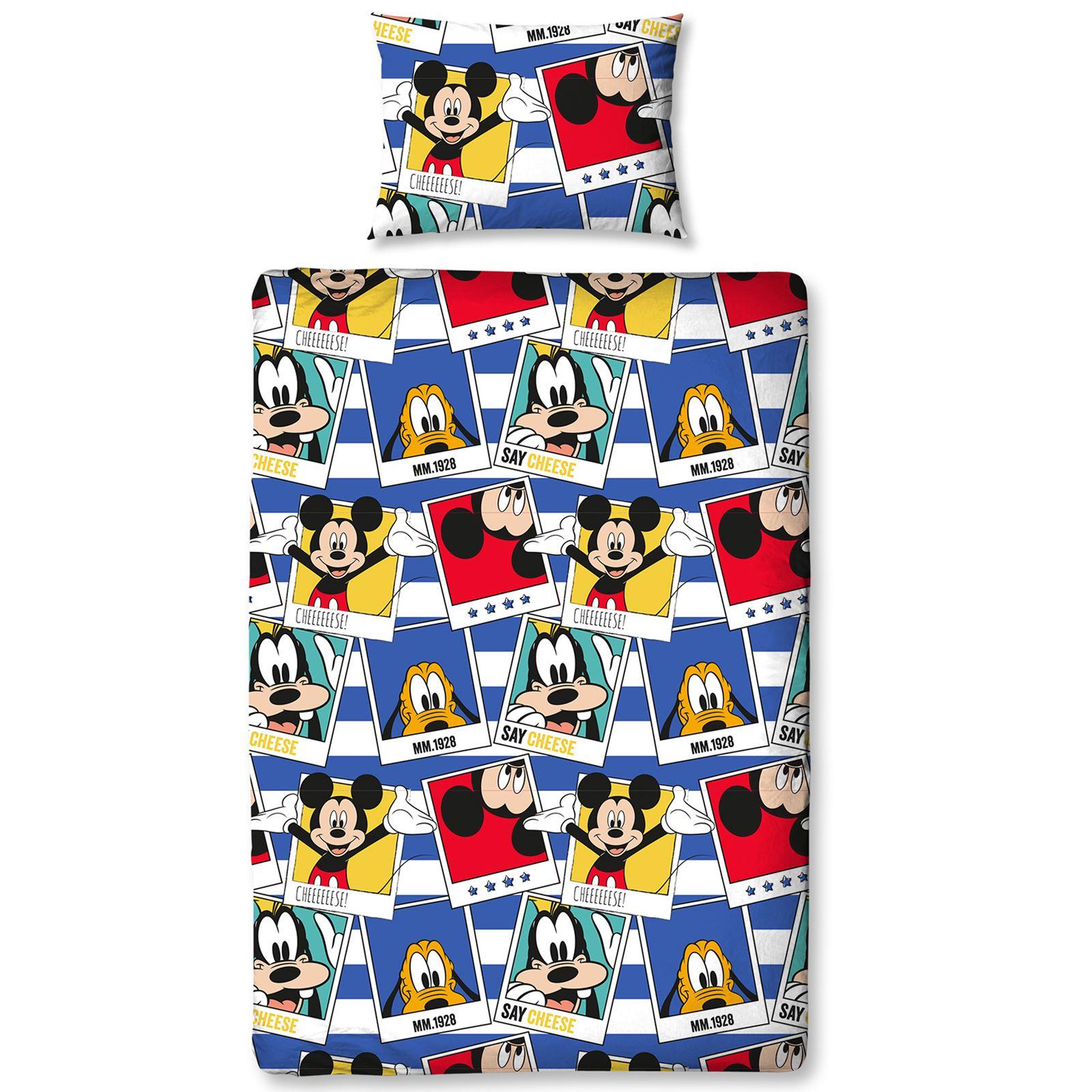 Mickey mouse polaroid set housse de couette simple new - Housse de couette mickey adulte ...