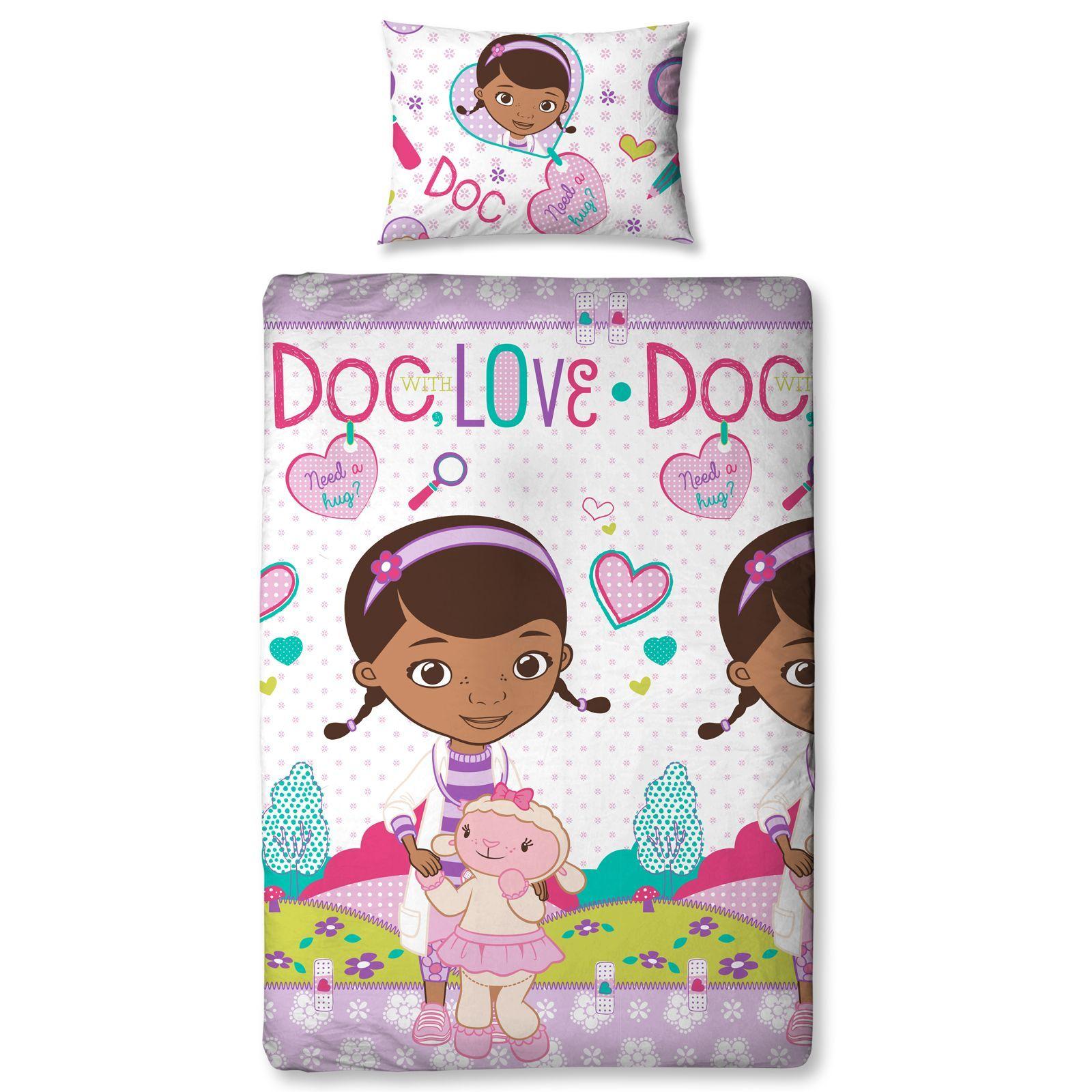 doc mcstuffins bedding single and double duvet cover sets