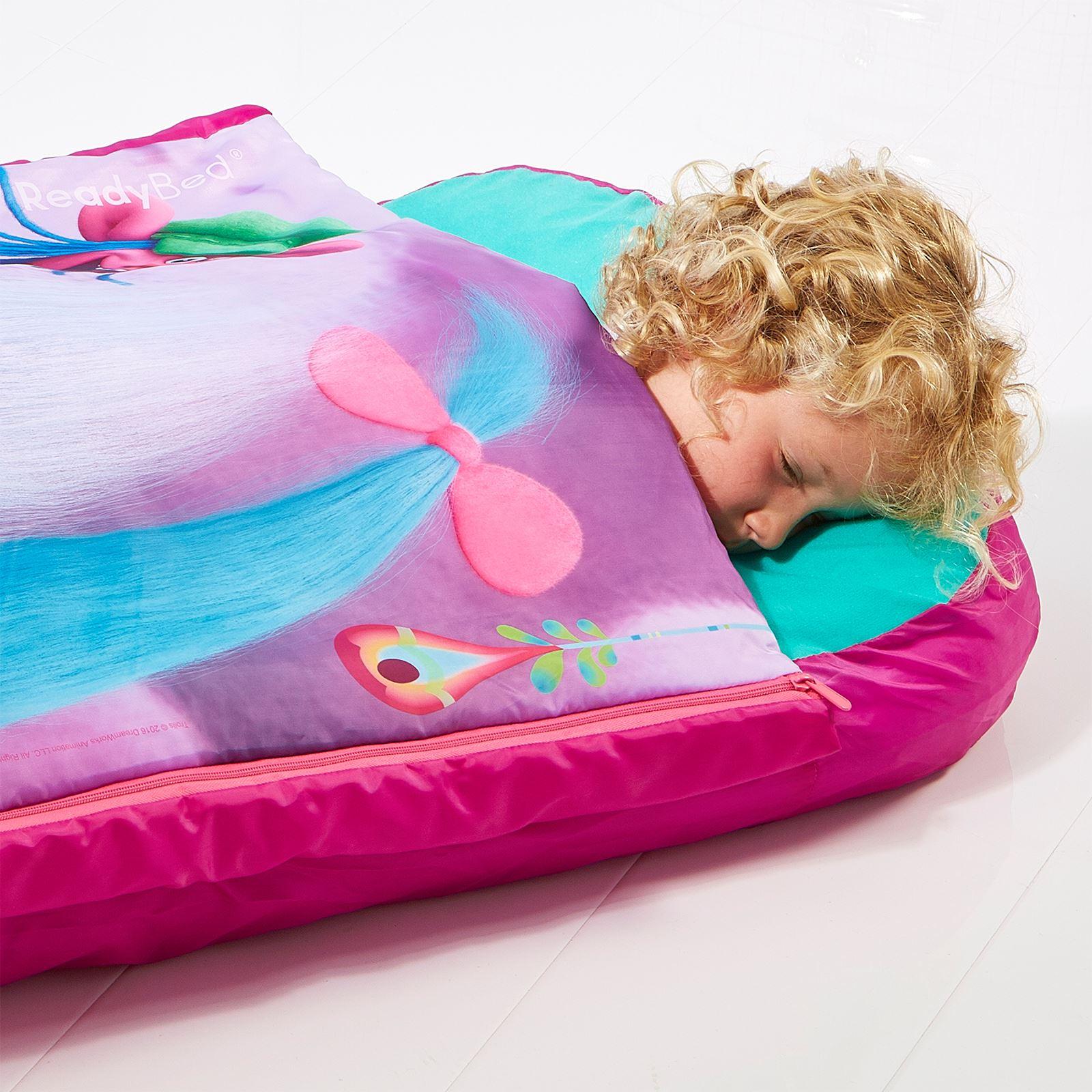 TROLLS JUNIOR READY BED SLEEPOVER SOLUTION CHILDRENS SLEEPING BAG NEW ...