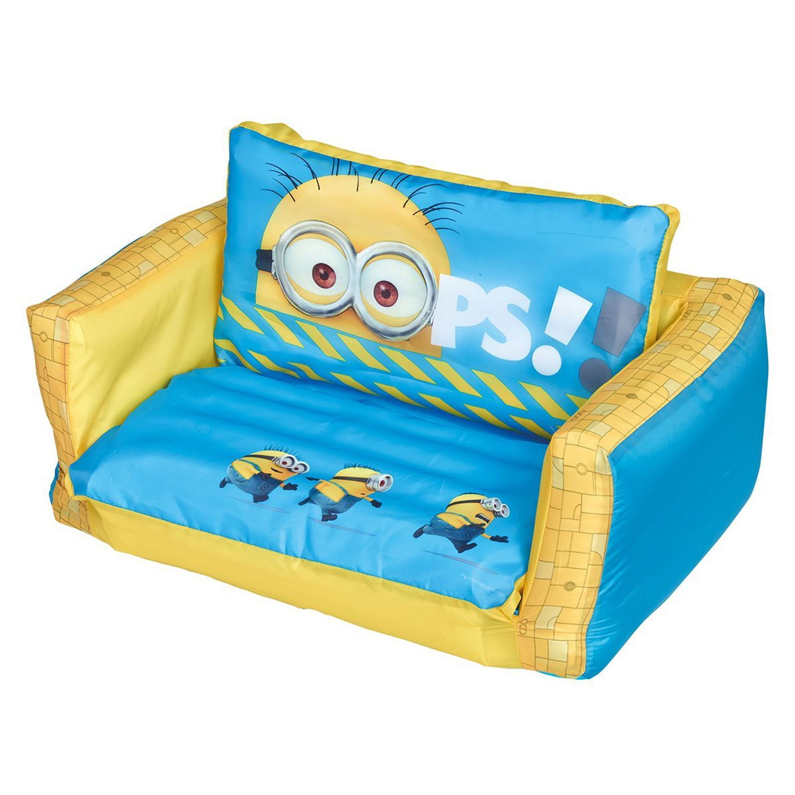 despicable me minion aufblasbar sofa zum ausklappen bett. Black Bedroom Furniture Sets. Home Design Ideas