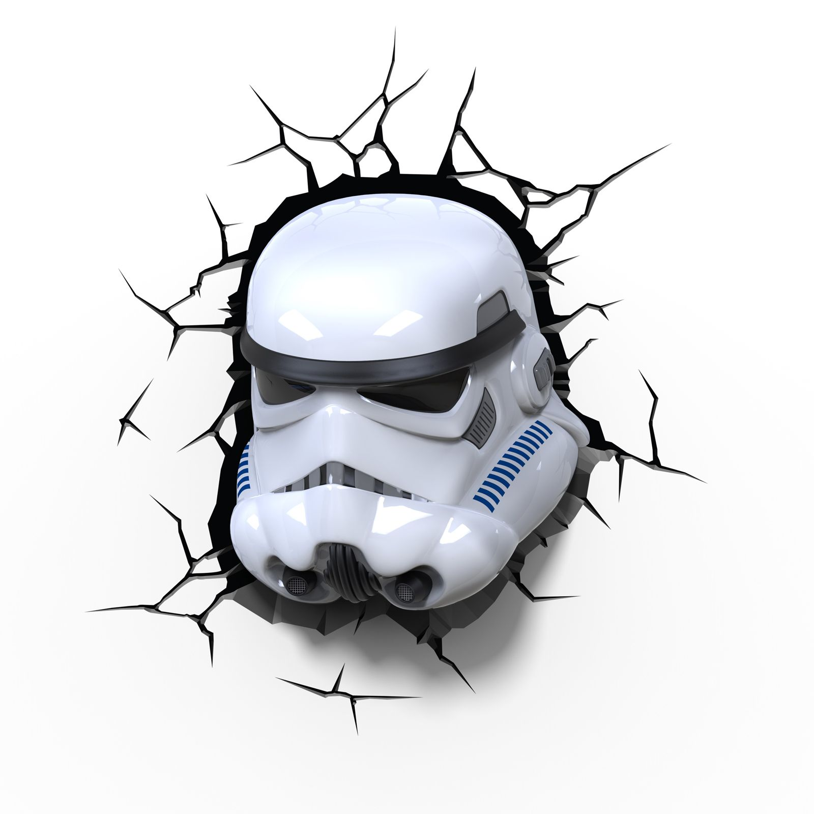 Star wars 3d wall lights with crack autocollant darth for Autocollant mural star wars