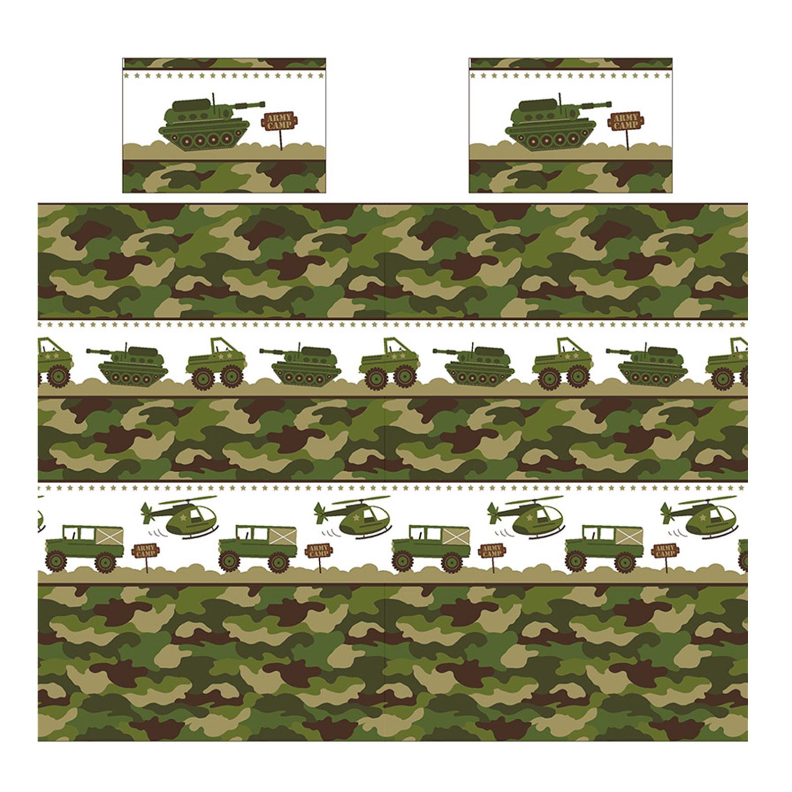 Army Camp Camouflage Duvet Covers Bedding Matching