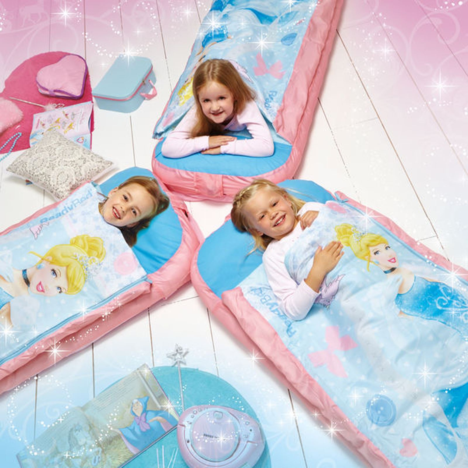 Disney princess cinderella junior inflatable airbed ready - Matelas gonflable ez bed ...