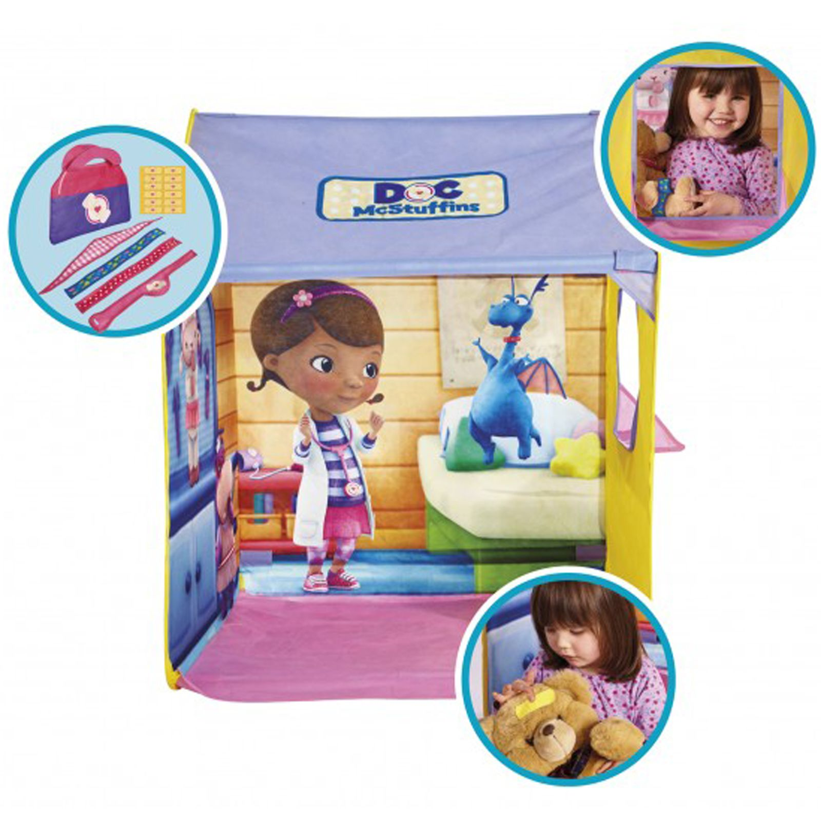 Doc Mcstuffins Pop Up Wendy Cuddles Amp Care Play Tent Ebay