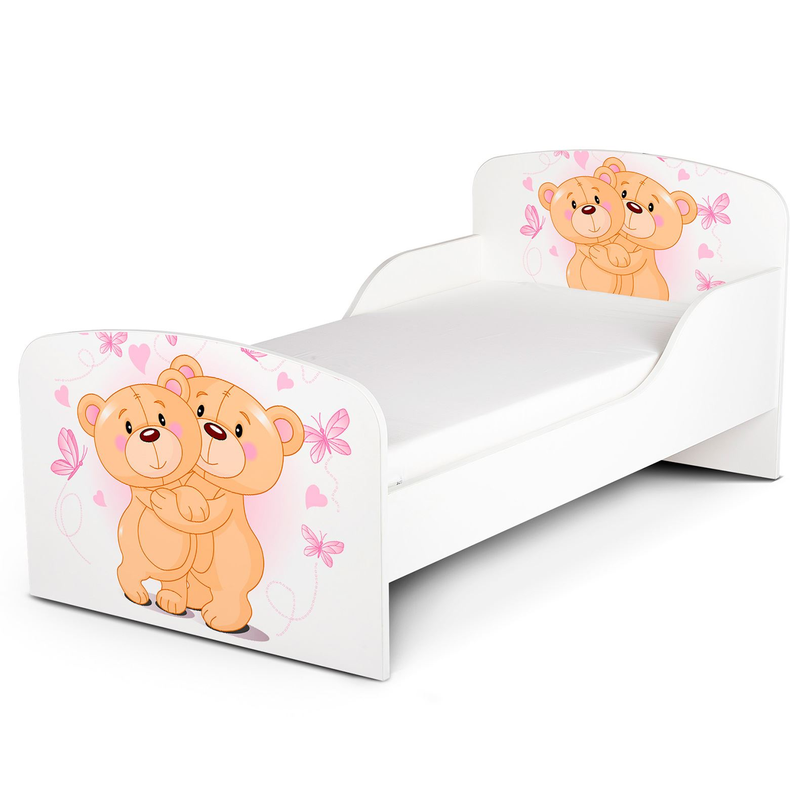 PRICERIGHTHOME TEDDY BEAR HUG TODDLER BED WITH PROTECTIVE