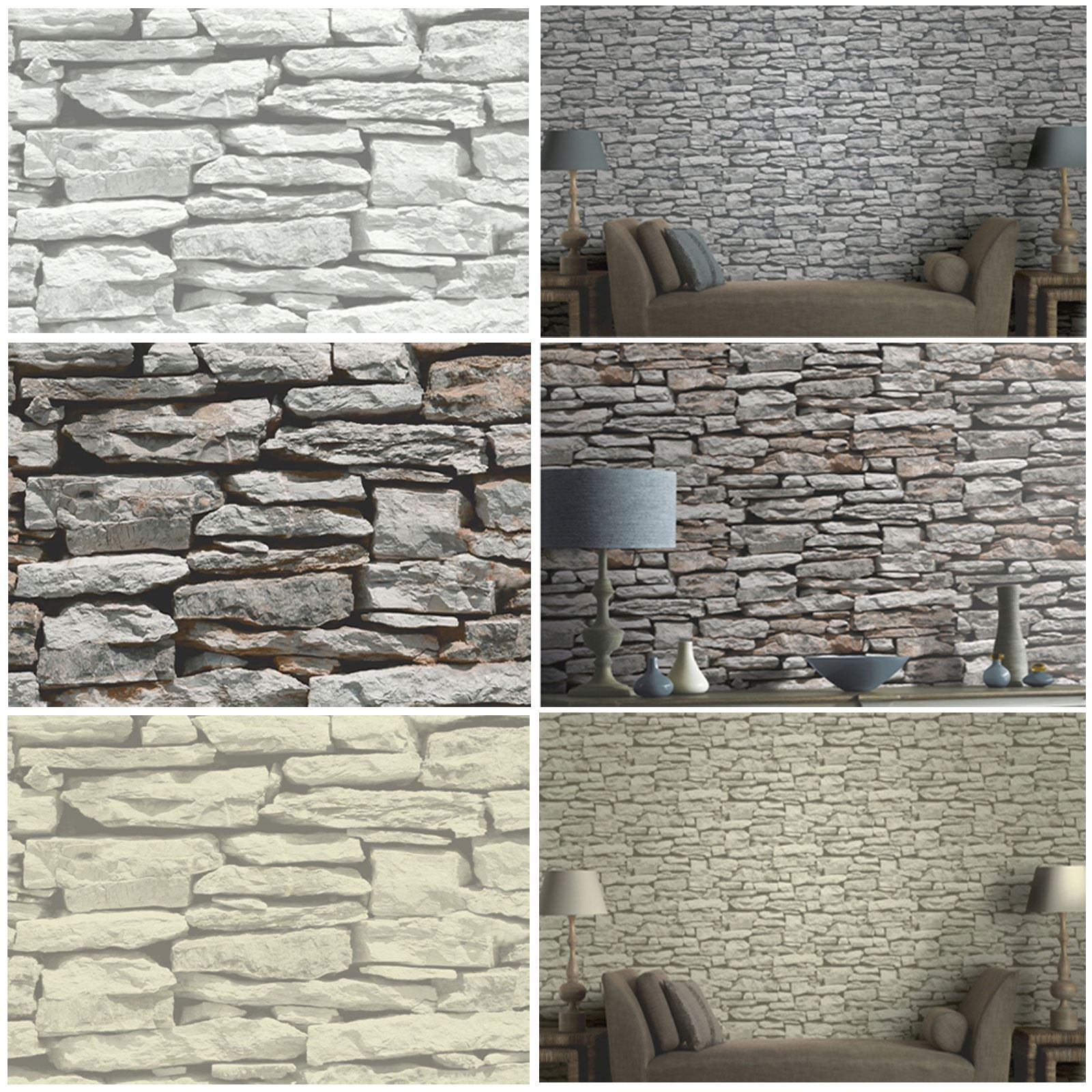 Moroccan wall natural slate stone wallpaper by arthouse for Moroccan wallpaper uk