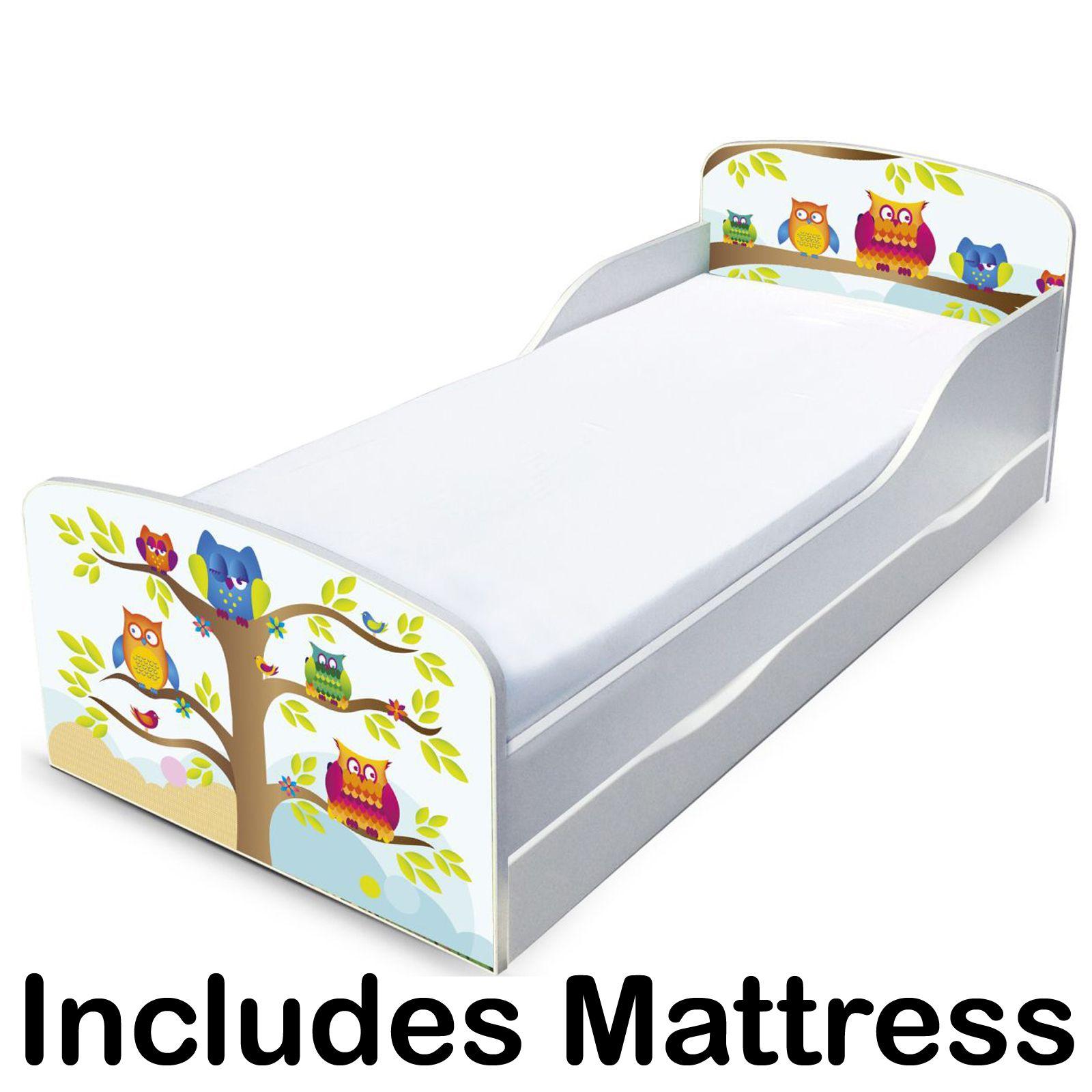 eulen mdf kleinkind bett mit unterbett aufbewahrung luxus. Black Bedroom Furniture Sets. Home Design Ideas